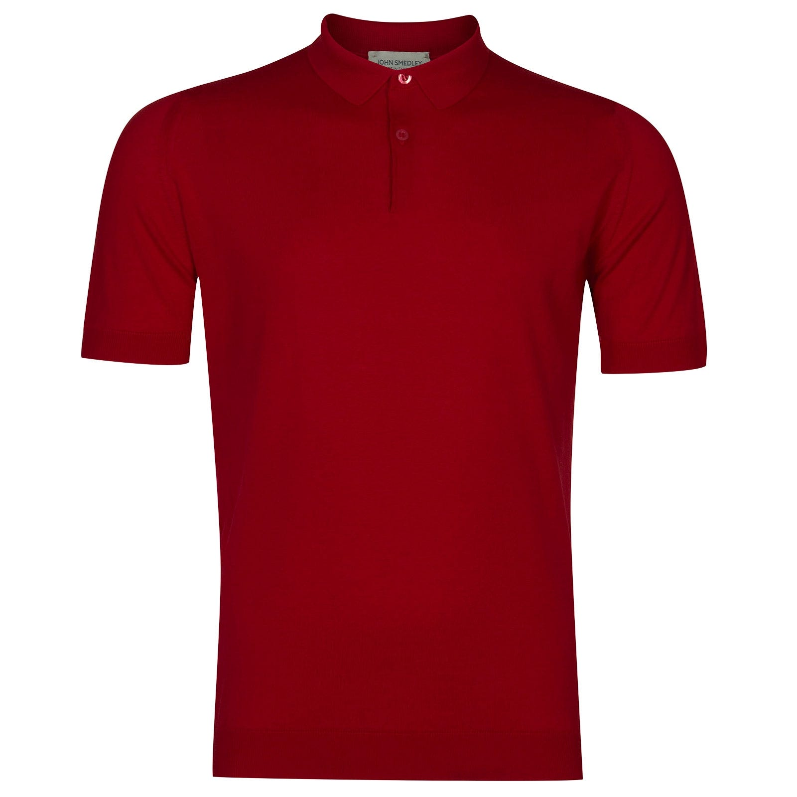 John Smedley Rhodes Sea Island Cotton Shirt in Dandy Red-XXL