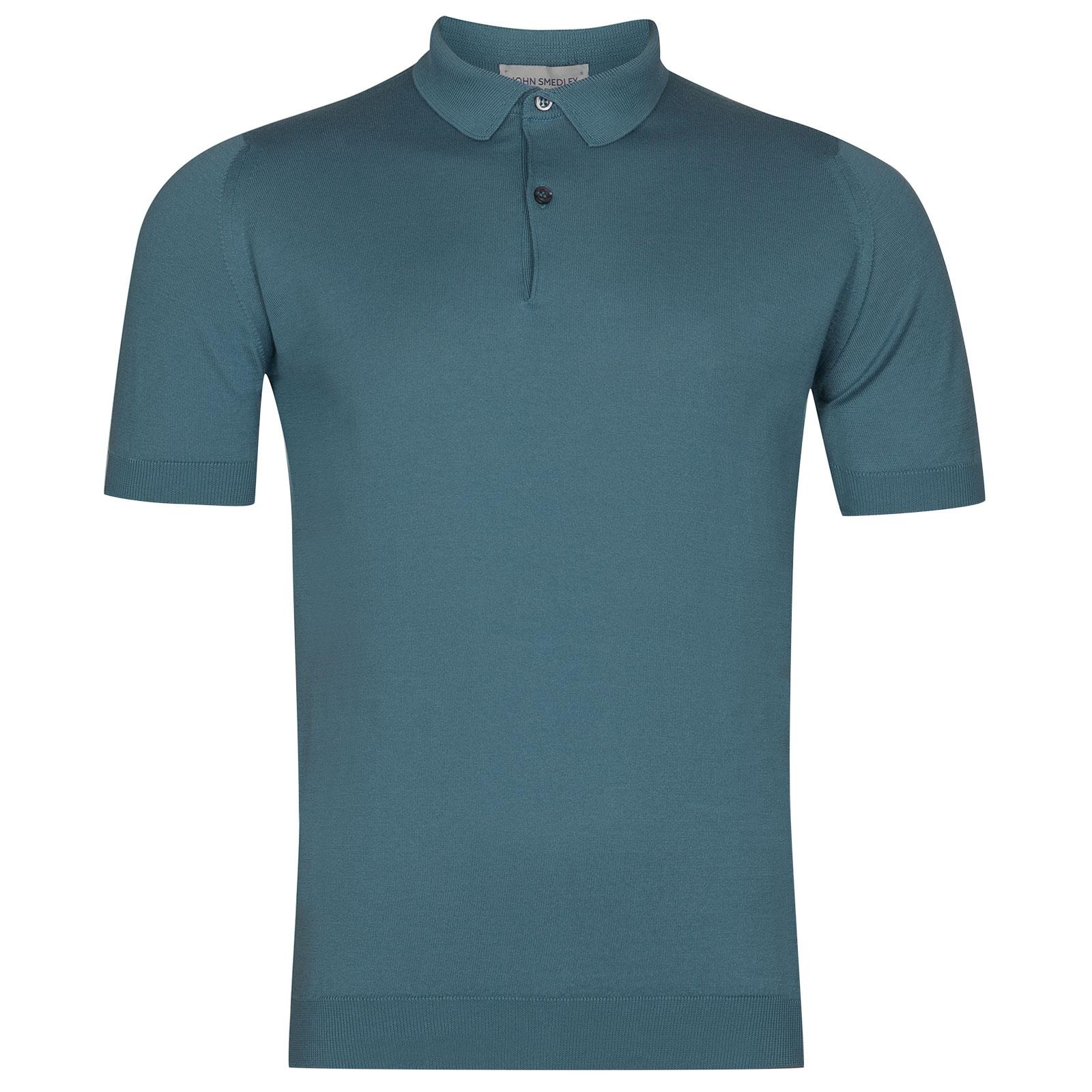 John Smedley Rhodes in Dewdrop Blue Shirt-XXL