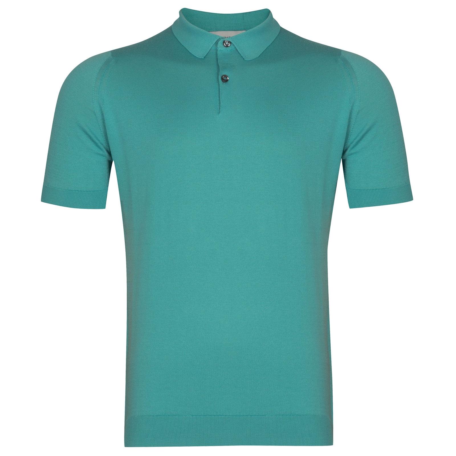 John Smedley Rhodes in Empyrean Blue Shirt-MED