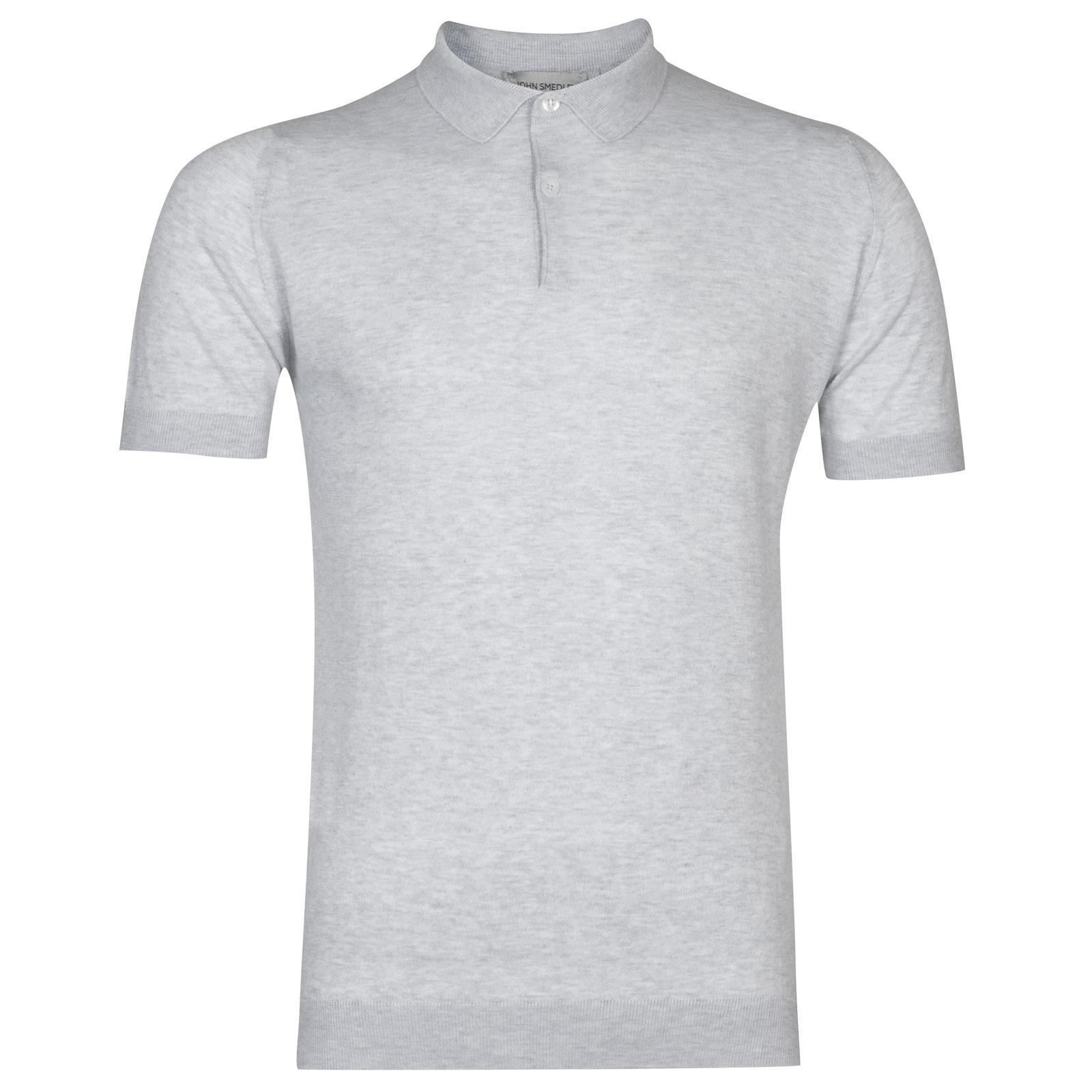 John Smedley rhodes Sea Island Cotton Shirt in Feather Grey-S