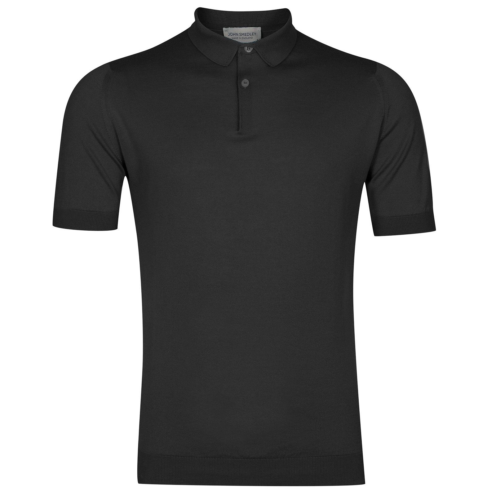 John Smedley Rhodes Sea Island Cotton Shirt in Flannel Grey-M