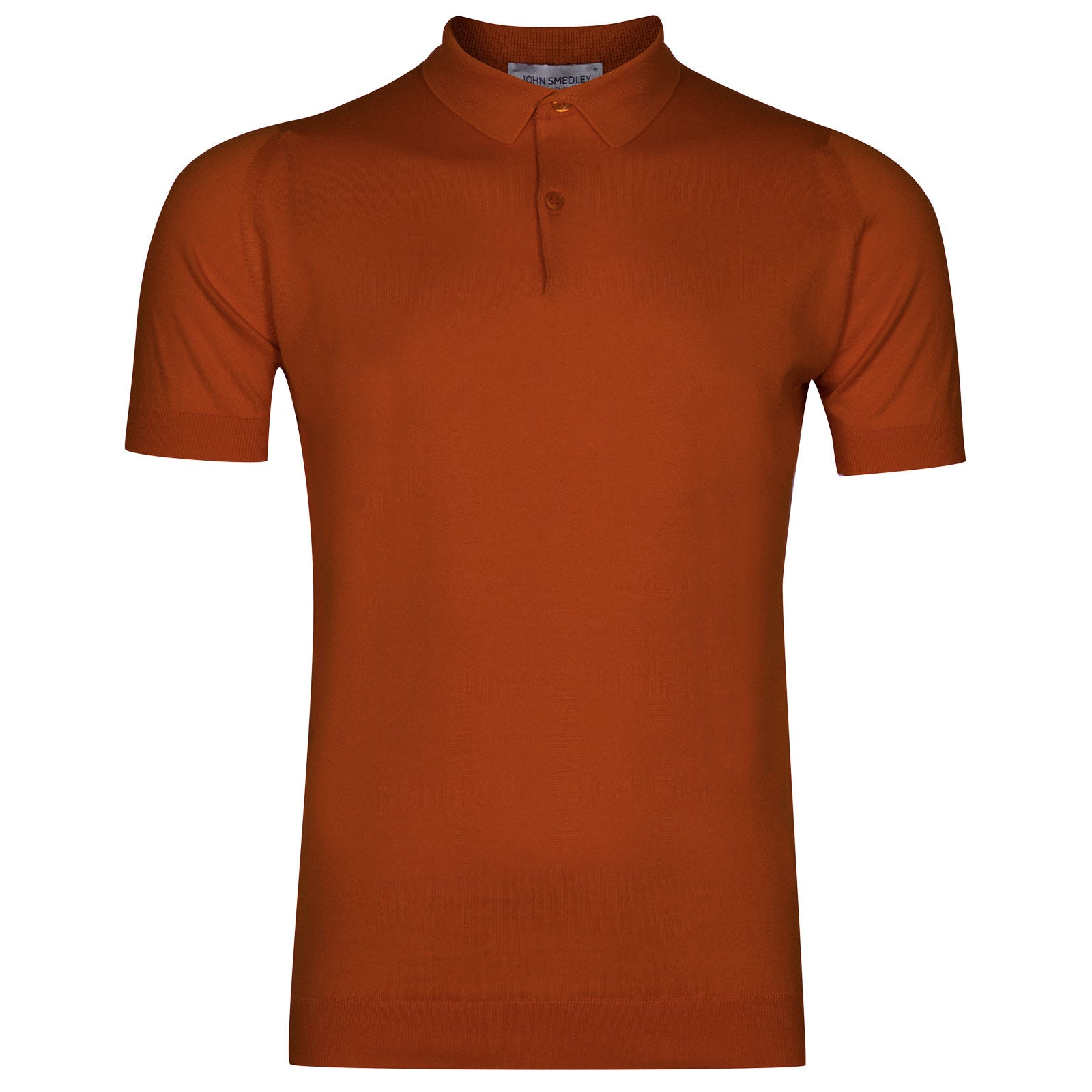 John Smedley rhodes Sea Island Cotton Shirt in Flare Orange-S