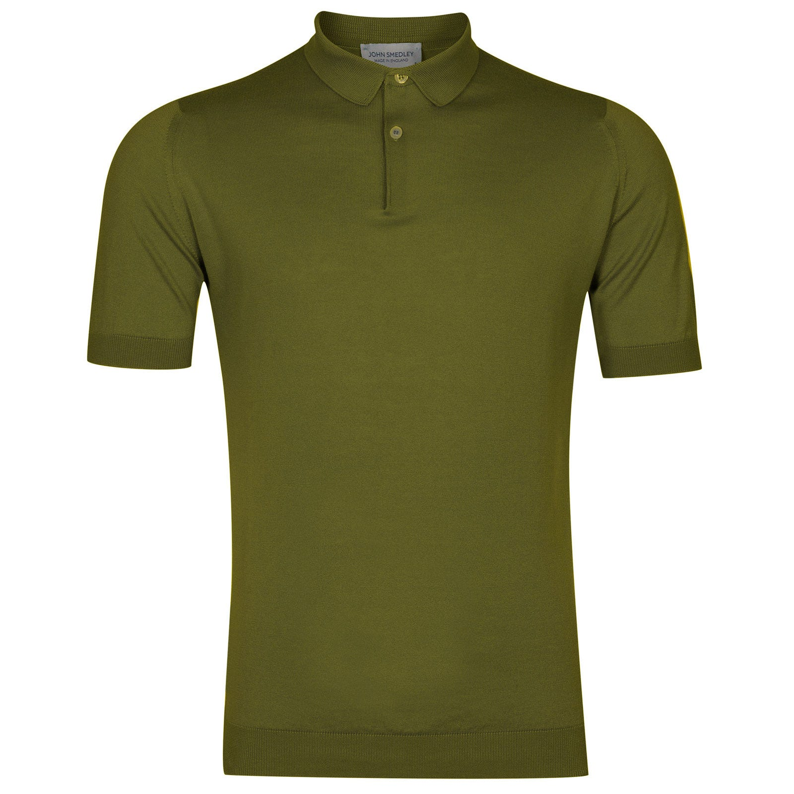 John Smedley rhodes Sea Island Cotton Shirt in Lumsdale Green-S