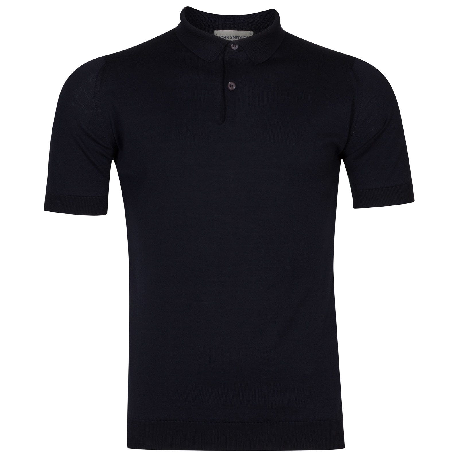 John Smedley rhodes Sea Island Cotton Shirt in Navy-S