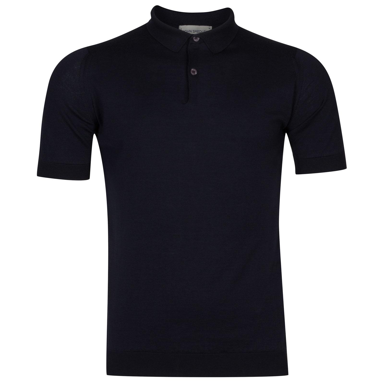 John Smedley rhodes Sea Island Cotton Shirt in Navy-XL