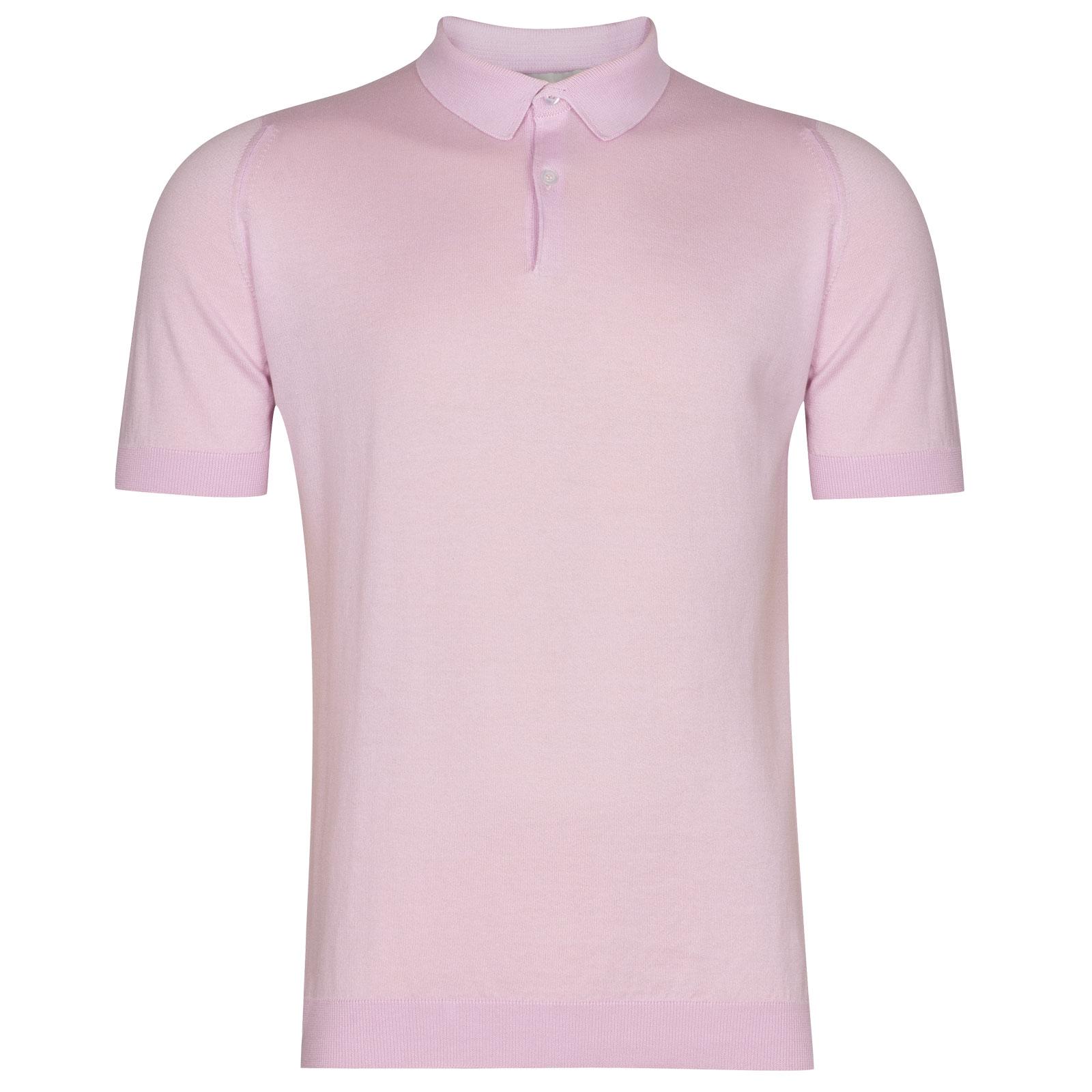 John Smedley Rhodes in Pink Blossom Shirt-LGE