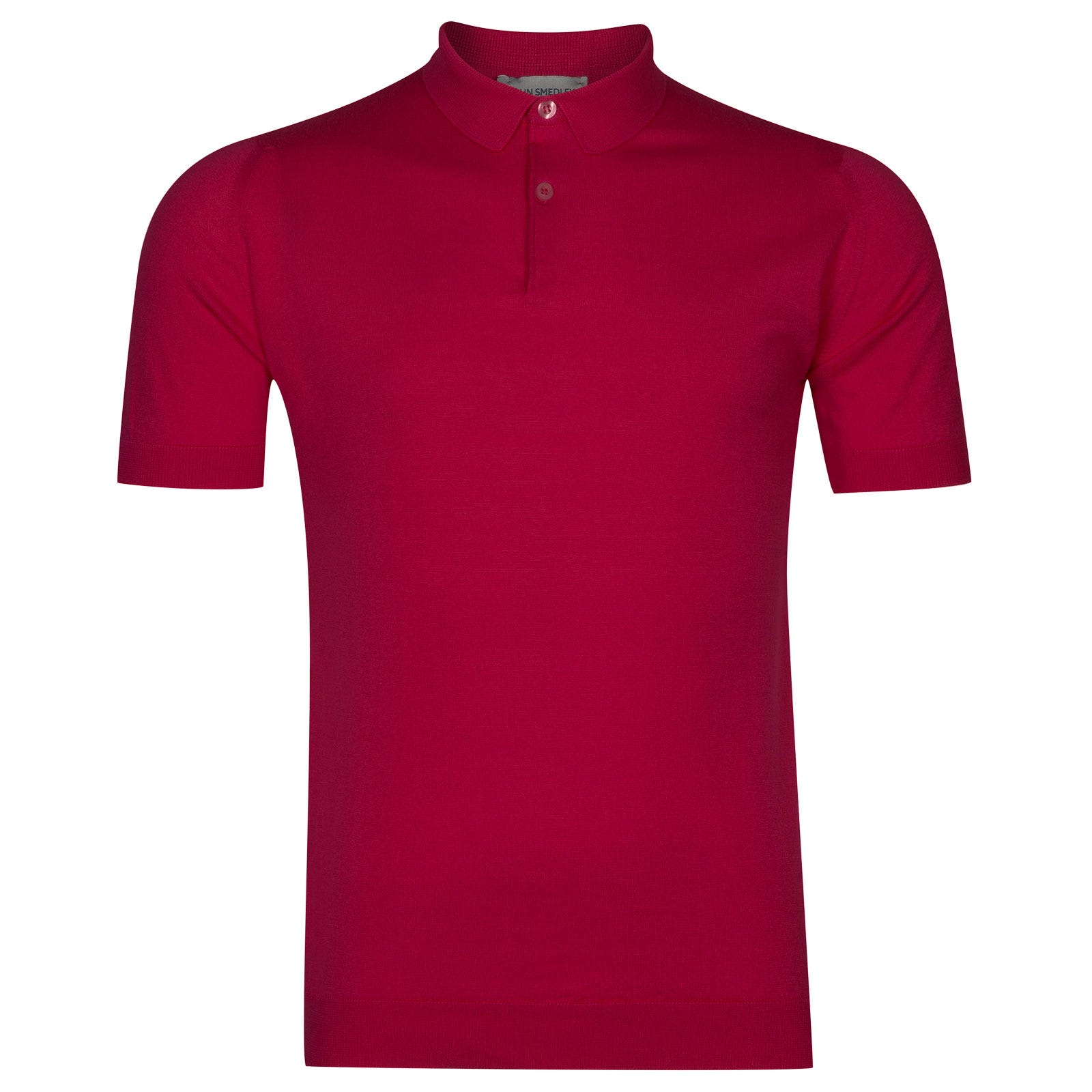 John Smedley rhodes Sea Island Cotton Shirt in Scarlet Sky-S
