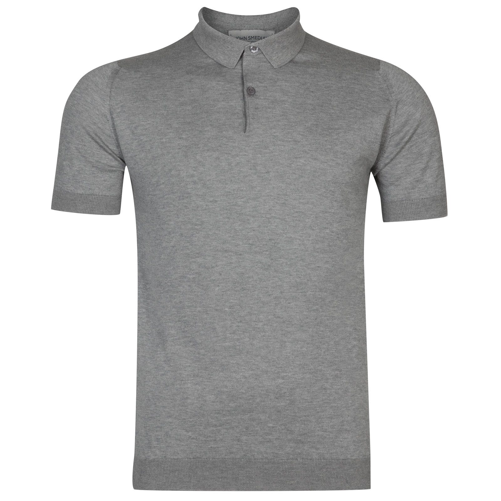 John Smedley rhodes Sea Island Cotton Shirt in Silver-M
