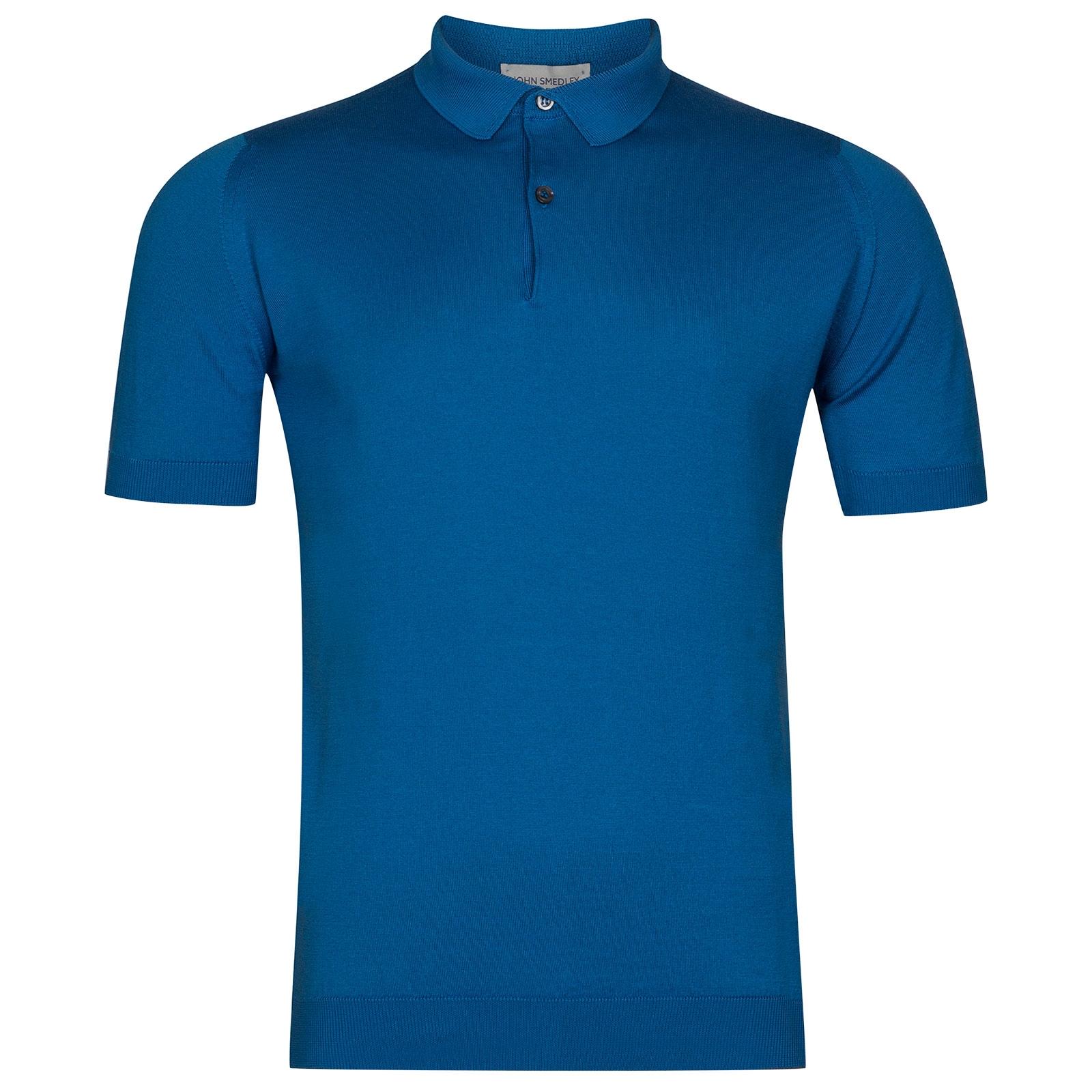 John Smedley Rhodes in Statice Blue Shirt-XXL