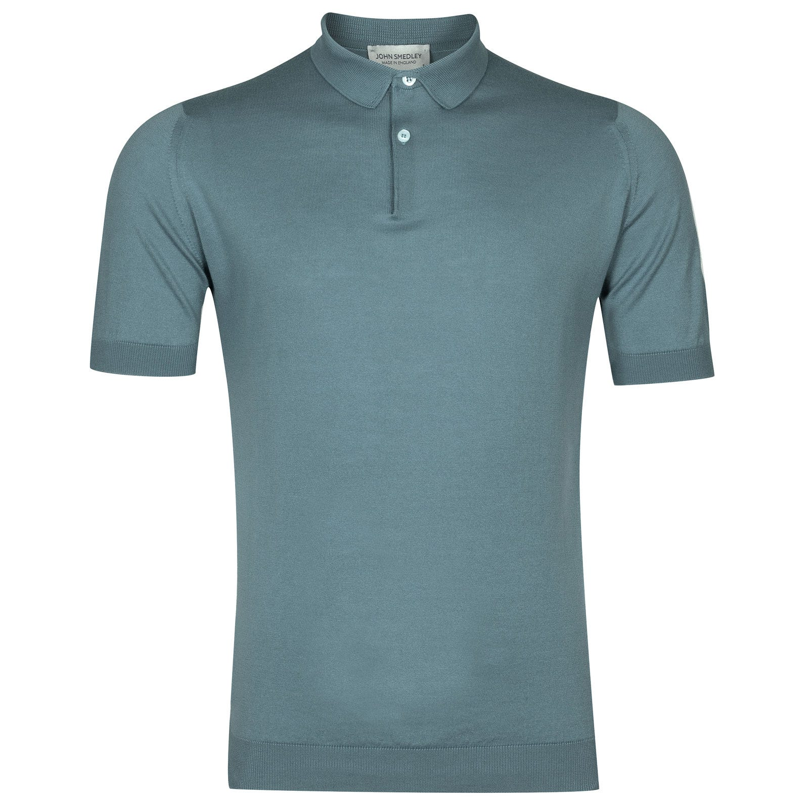 John Smedley rhodes Sea Island Cotton Shirt in Summit Blue-M
