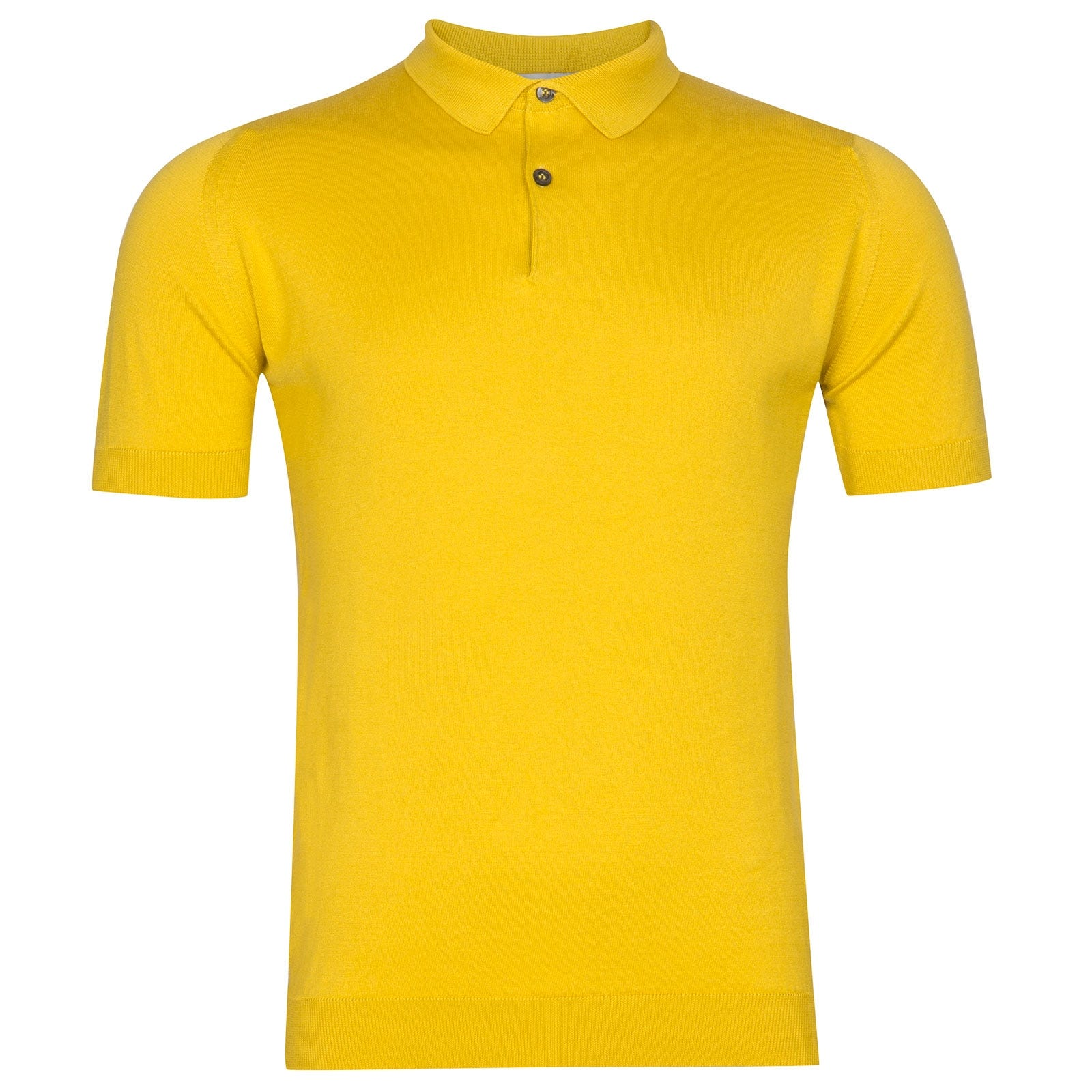 John Smedley Rhodes Sea Island Cotton Shirt in Tailors Yellow-L