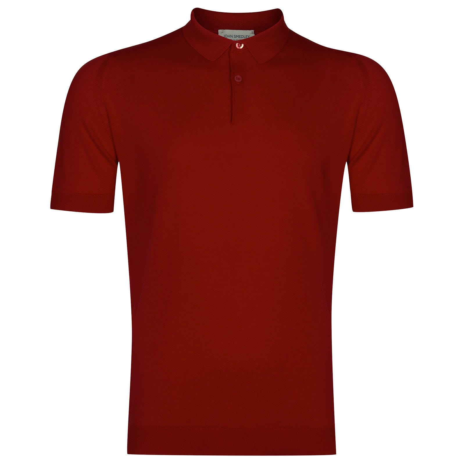John Smedley Rhodes Sea Island Cotton Shirt in Thermal Red-XXL