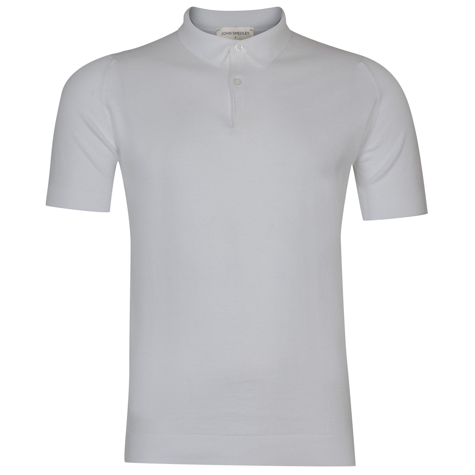 John Smedley rhodes Sea Island Cotton Shirt in white-S