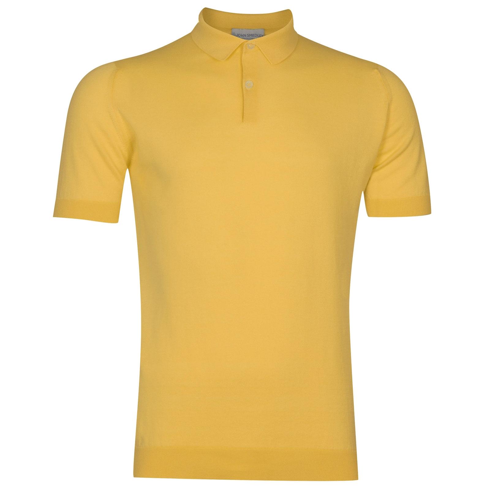 John Smedley Rhodes in Yellow Bloom Shirt-SML