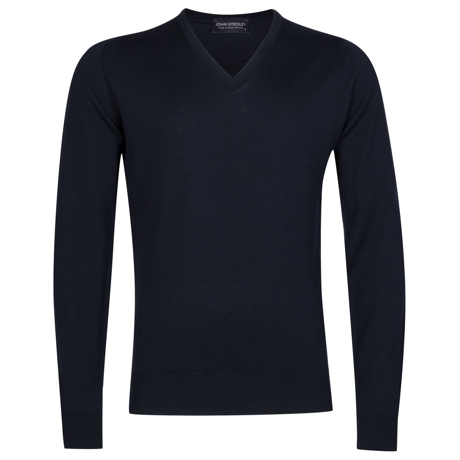 John Smedley Riber Merino Wool Pullover in Midnight-XL