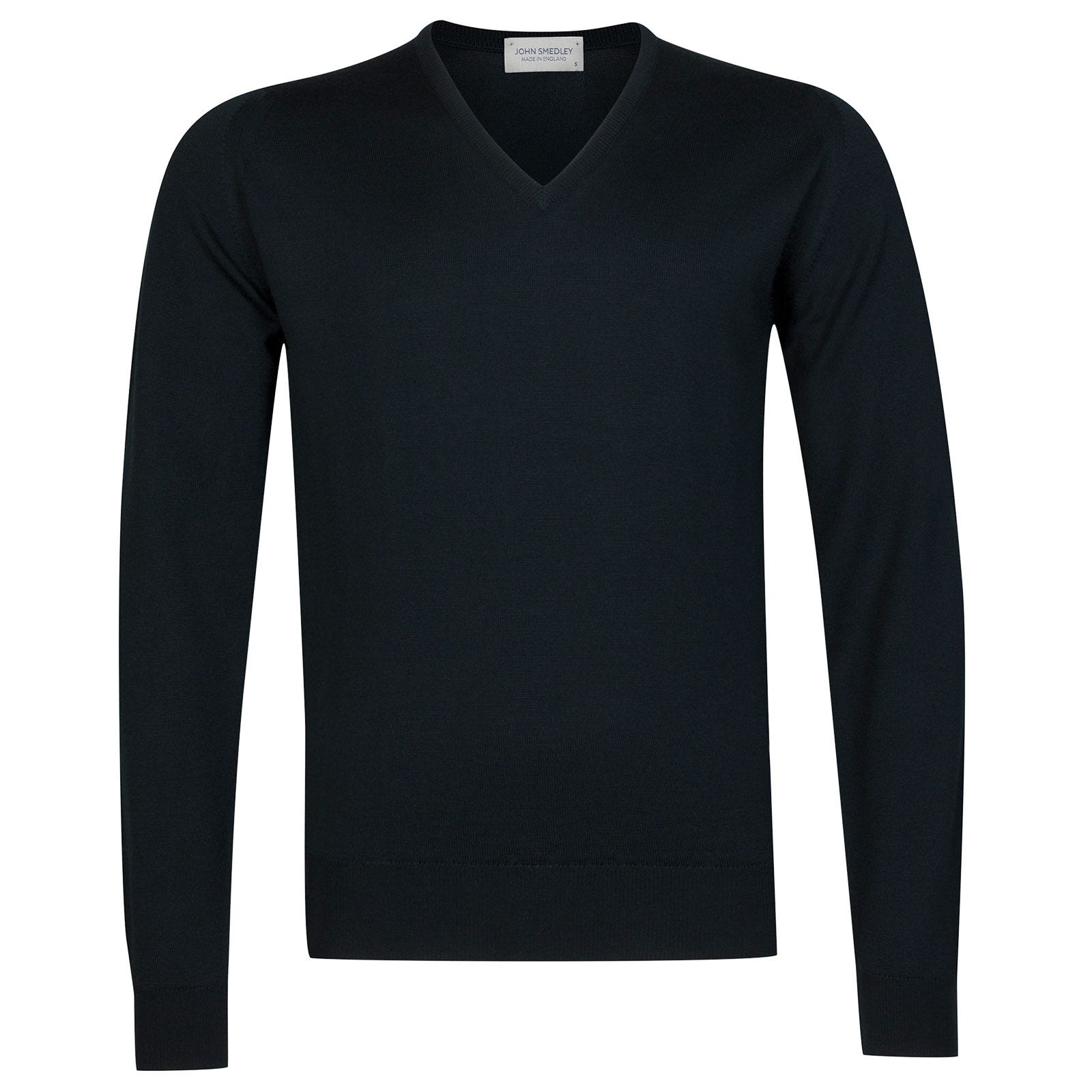 John Smedley Riber Merino Wool Pullover in Racing Green-M