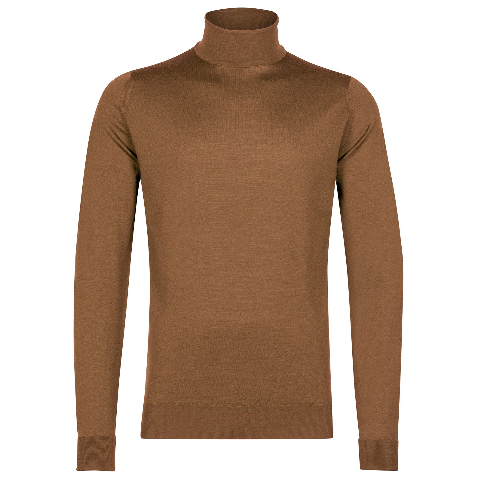John Smedley richards Merino Wool Pullover in Camel-XS