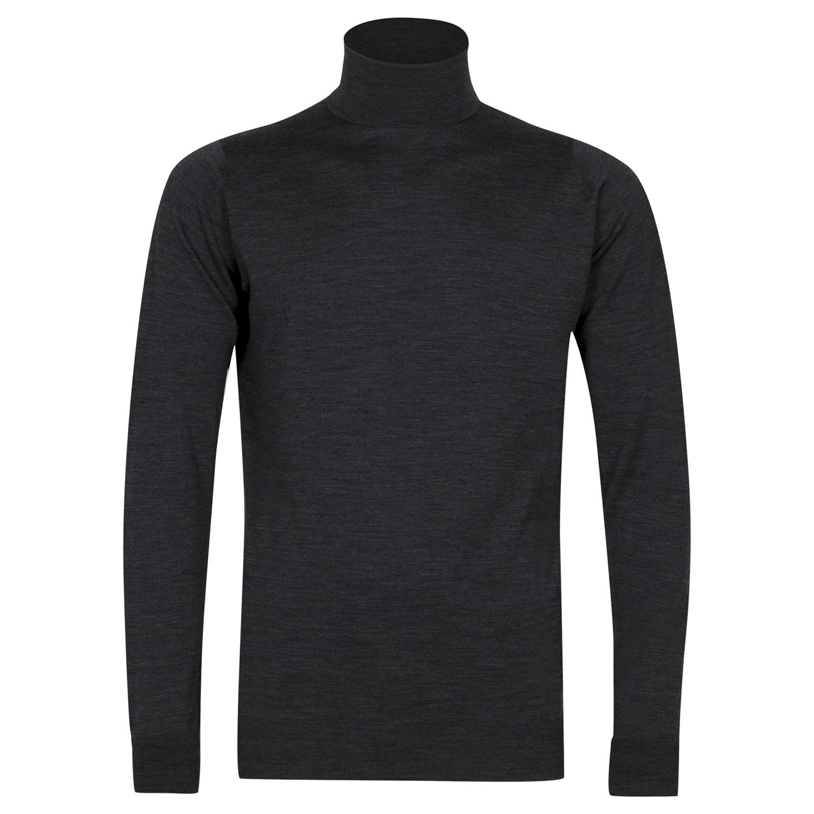 John Smedley richards Merino Wool Pullover in Charcoal-S