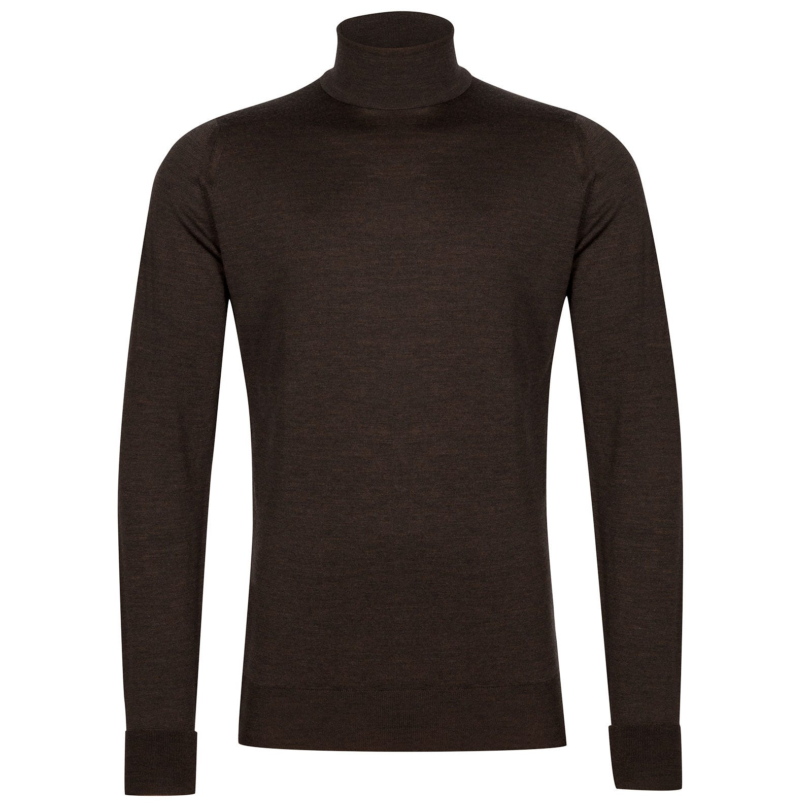 John Smedley Richards Merino Wool Pullover in Chestnut-S