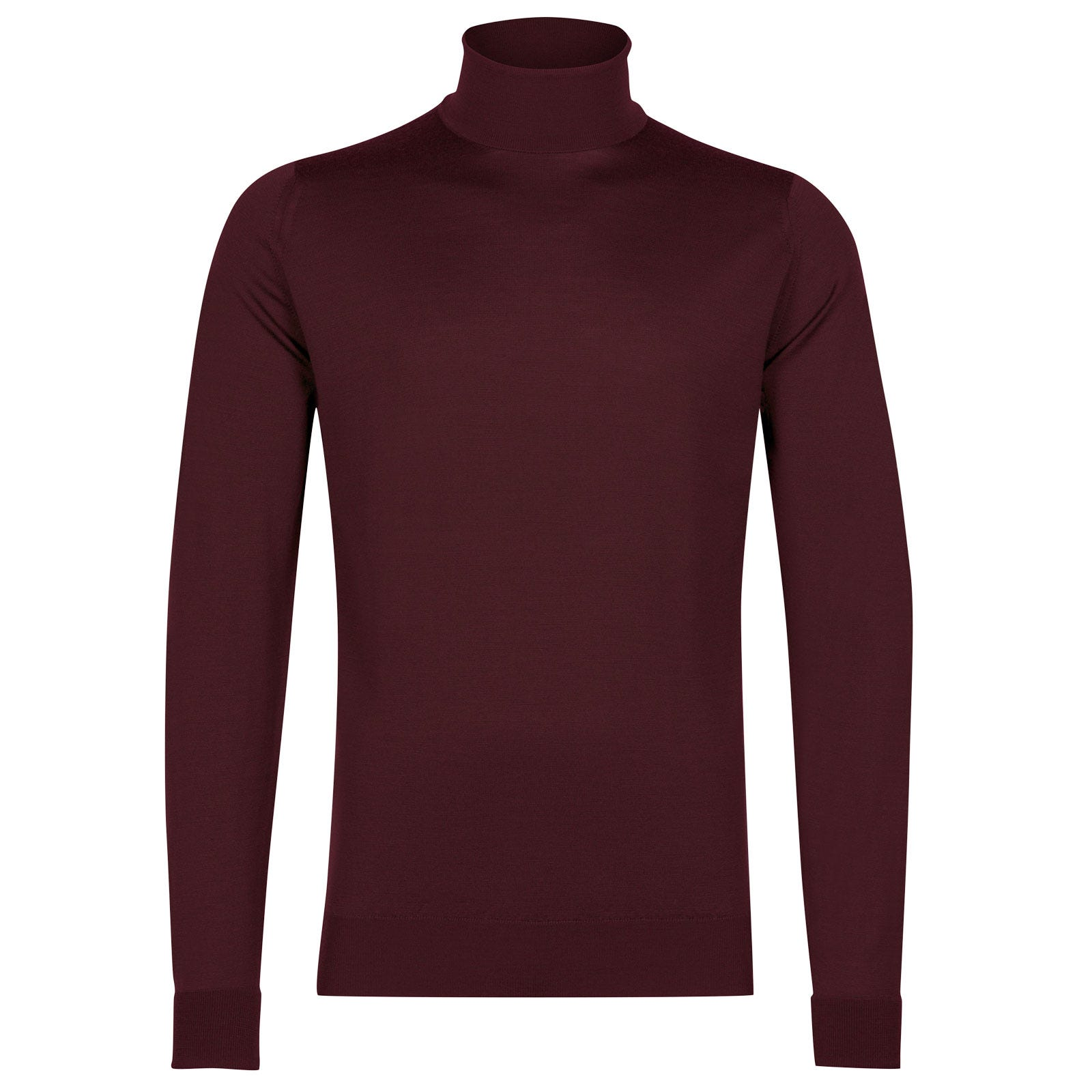 John Smedley richards Merino Wool Pullover in Maroon Blaze-S