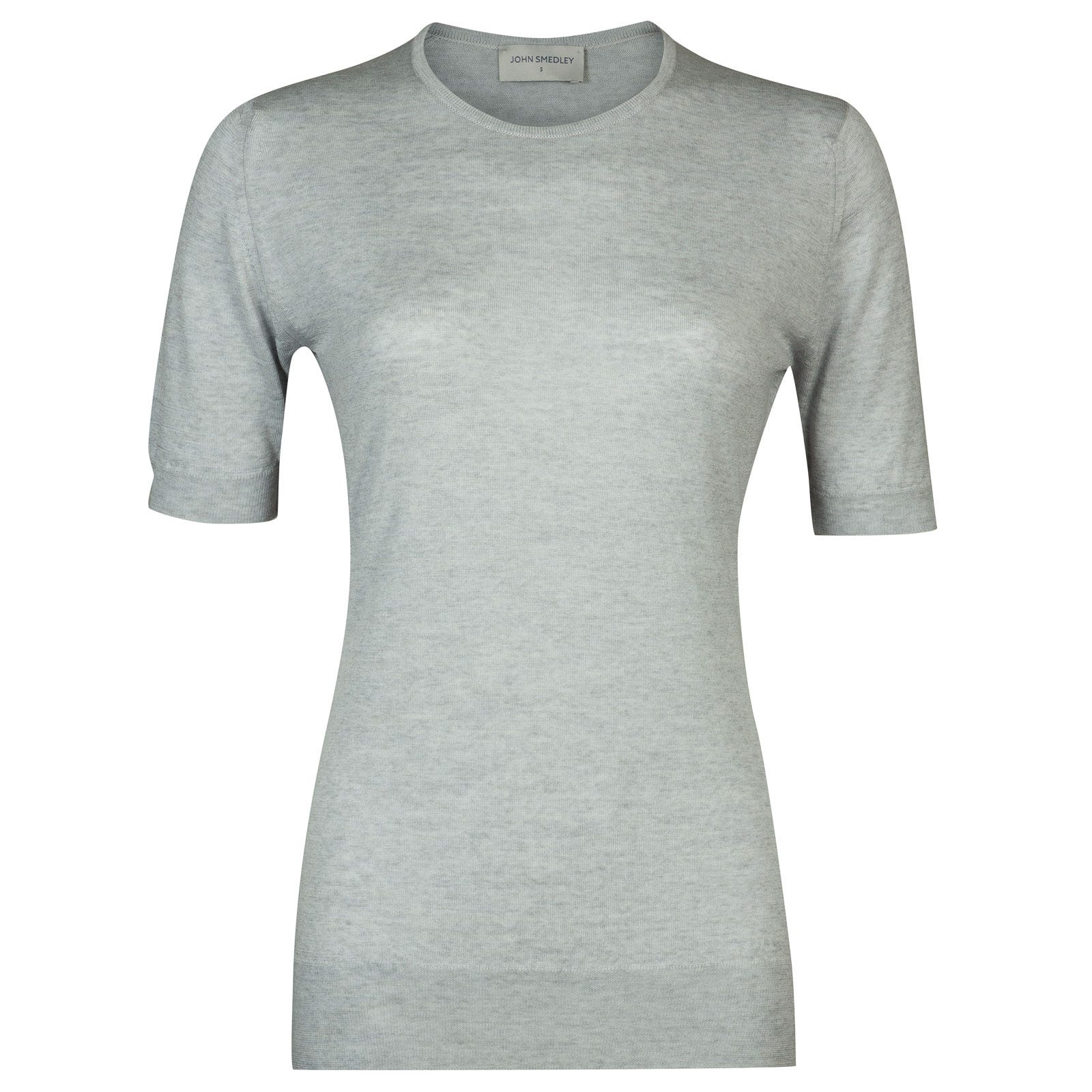 John Smedley rietta Merino Wool Sweater in Bardot Grey-XL