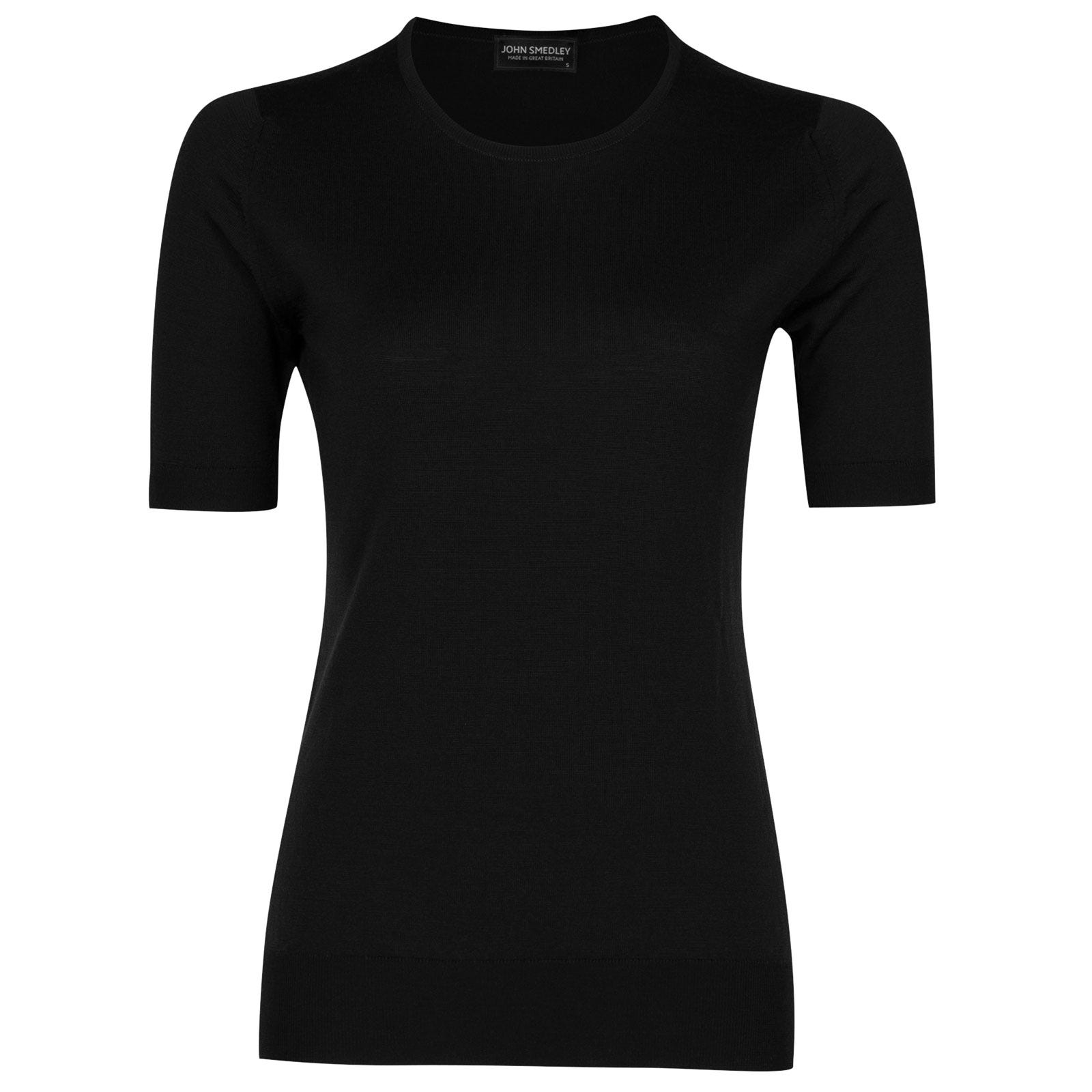 John Smedley rietta Merino Wool Sweater in Black-XL