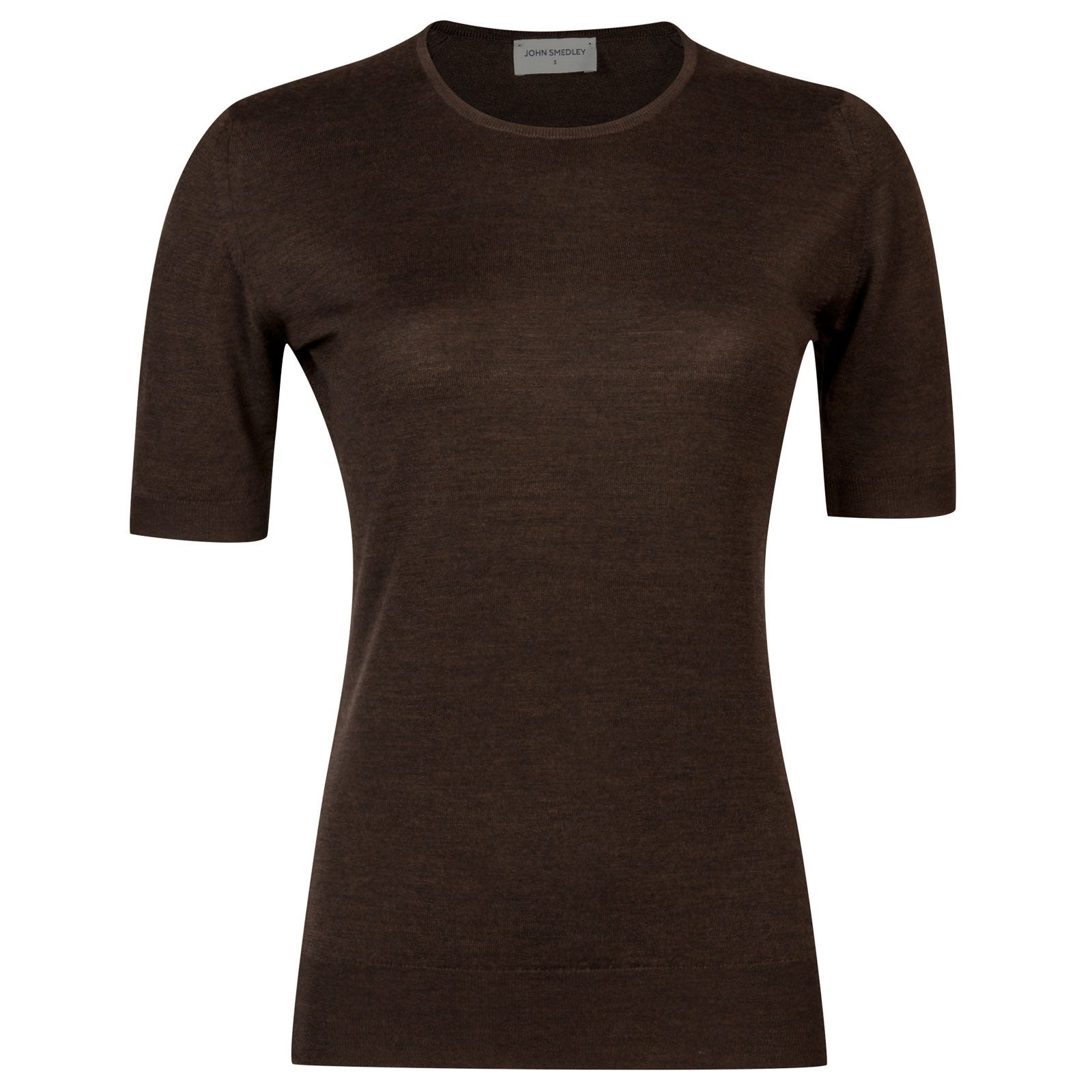 John Smedley rietta Merino Wool Sweater in Chestnut-XL
