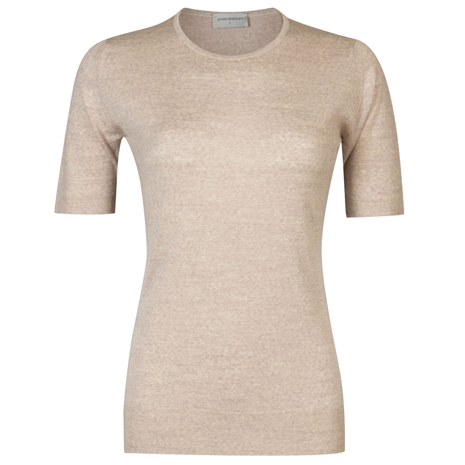 John Smedley rietta Merino Wool Sweater in Eastwood Beige-S