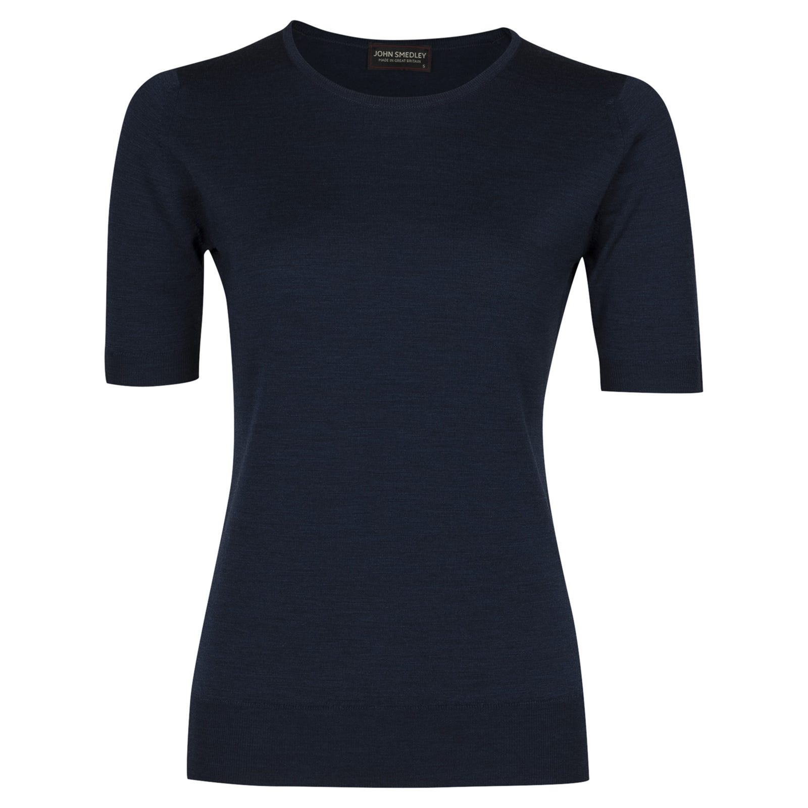 John Smedley rietta Merino Wool Sweater in Indigo-XL