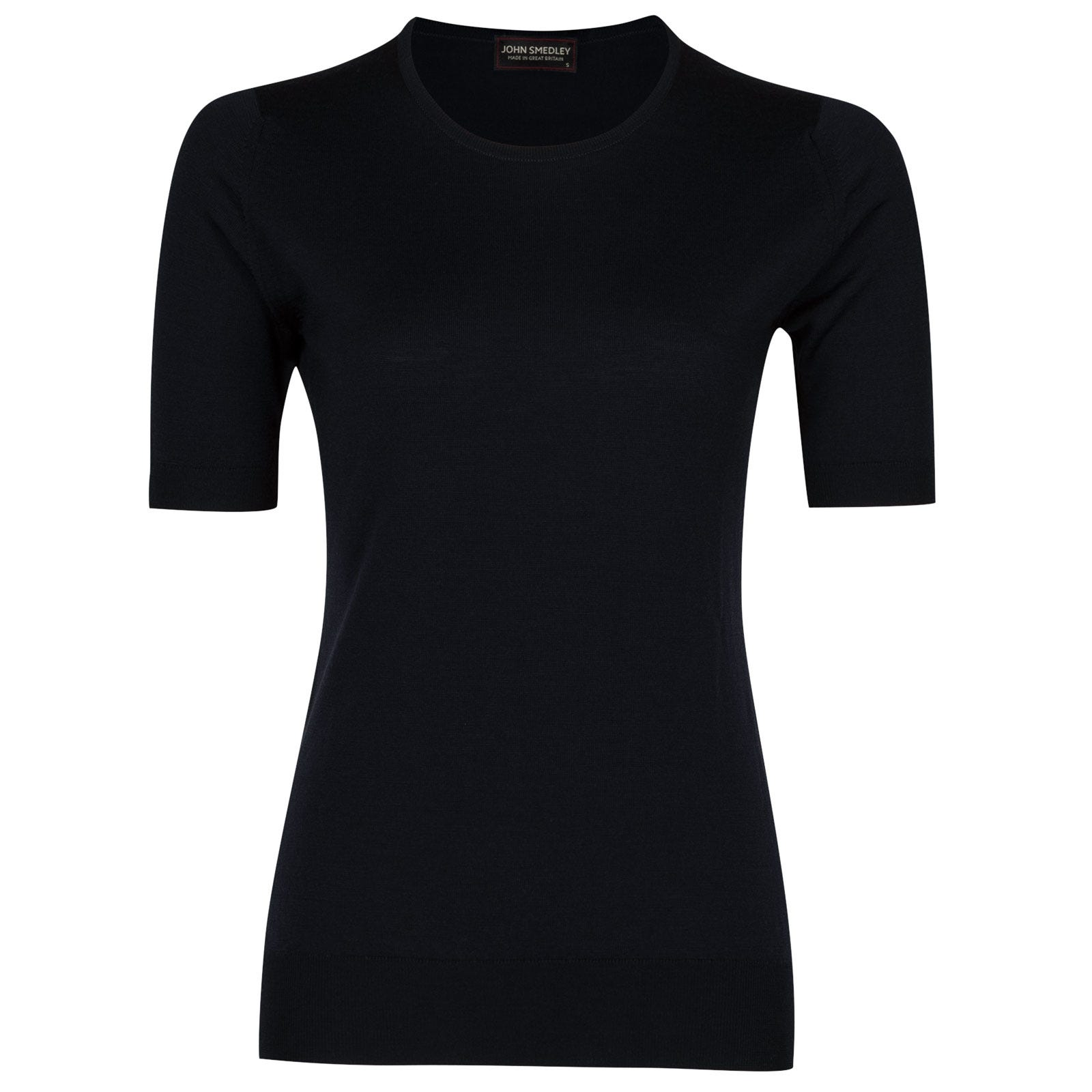 John Smedley rietta Merino Wool Sweater in Midnight-M
