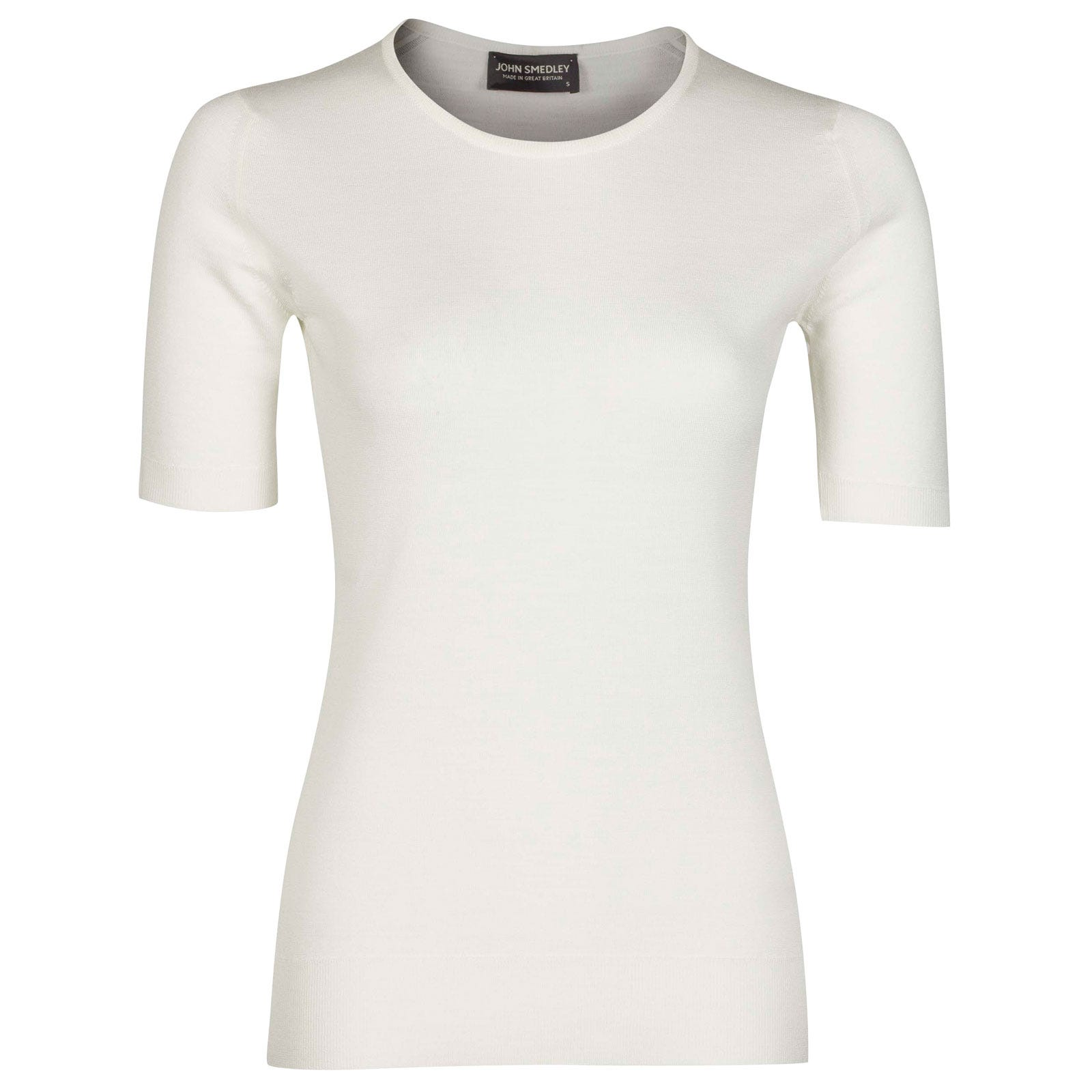 John Smedley Rietta Merino Wool Sweater in Snow White-XL