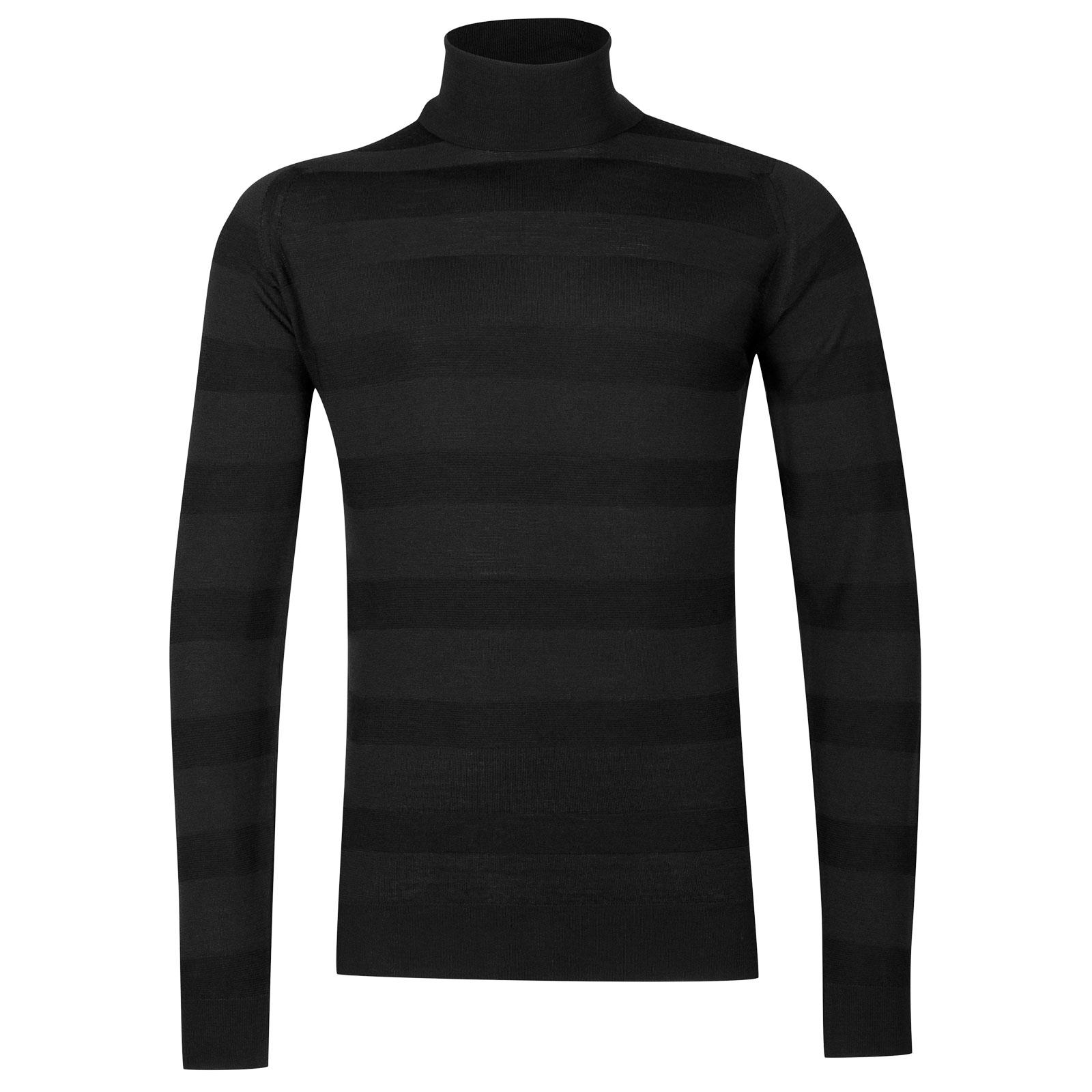 John Smedley ripley Merino Wool Pullover in Black-M