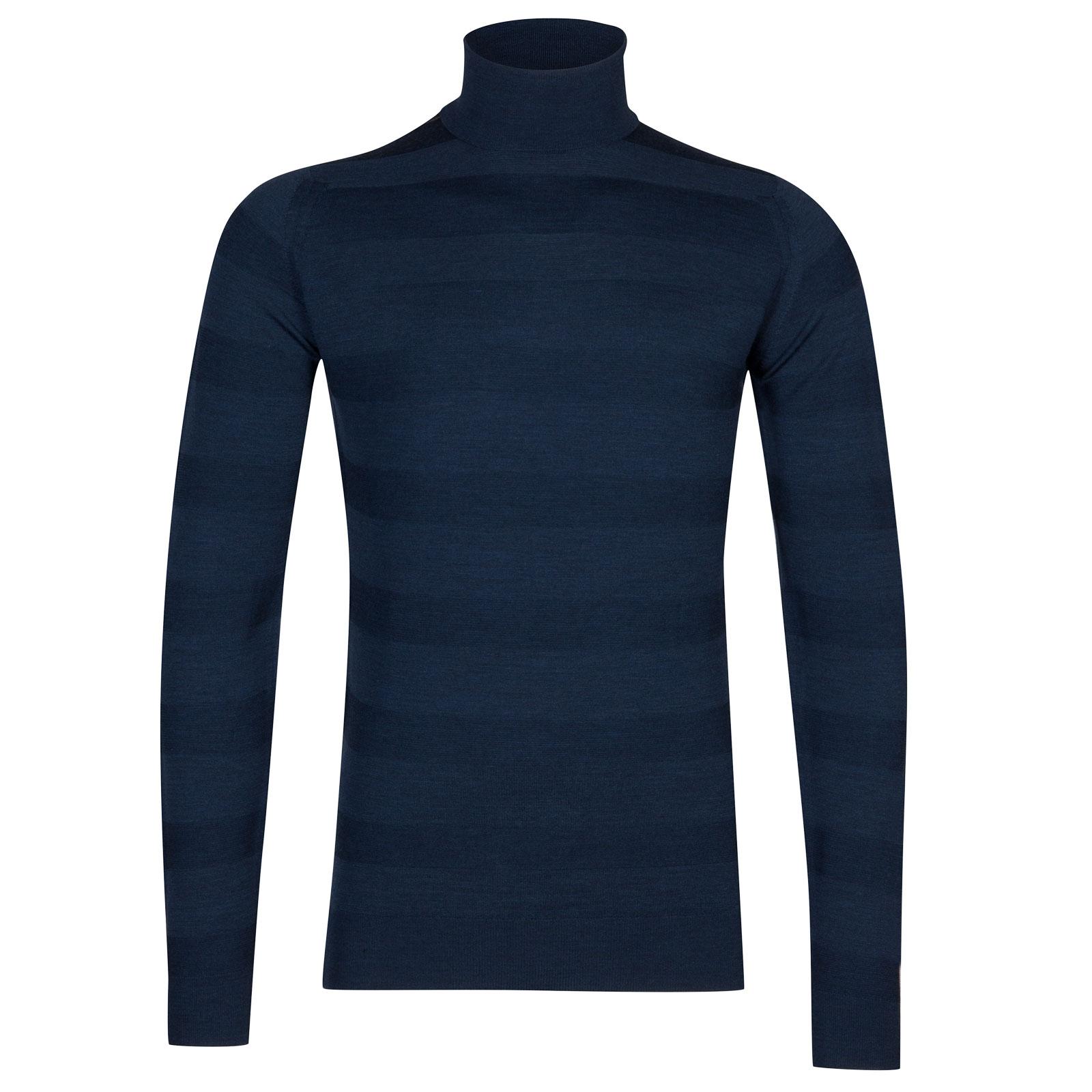 John Smedley ripley Merino Wool Pullover in Indigo-L