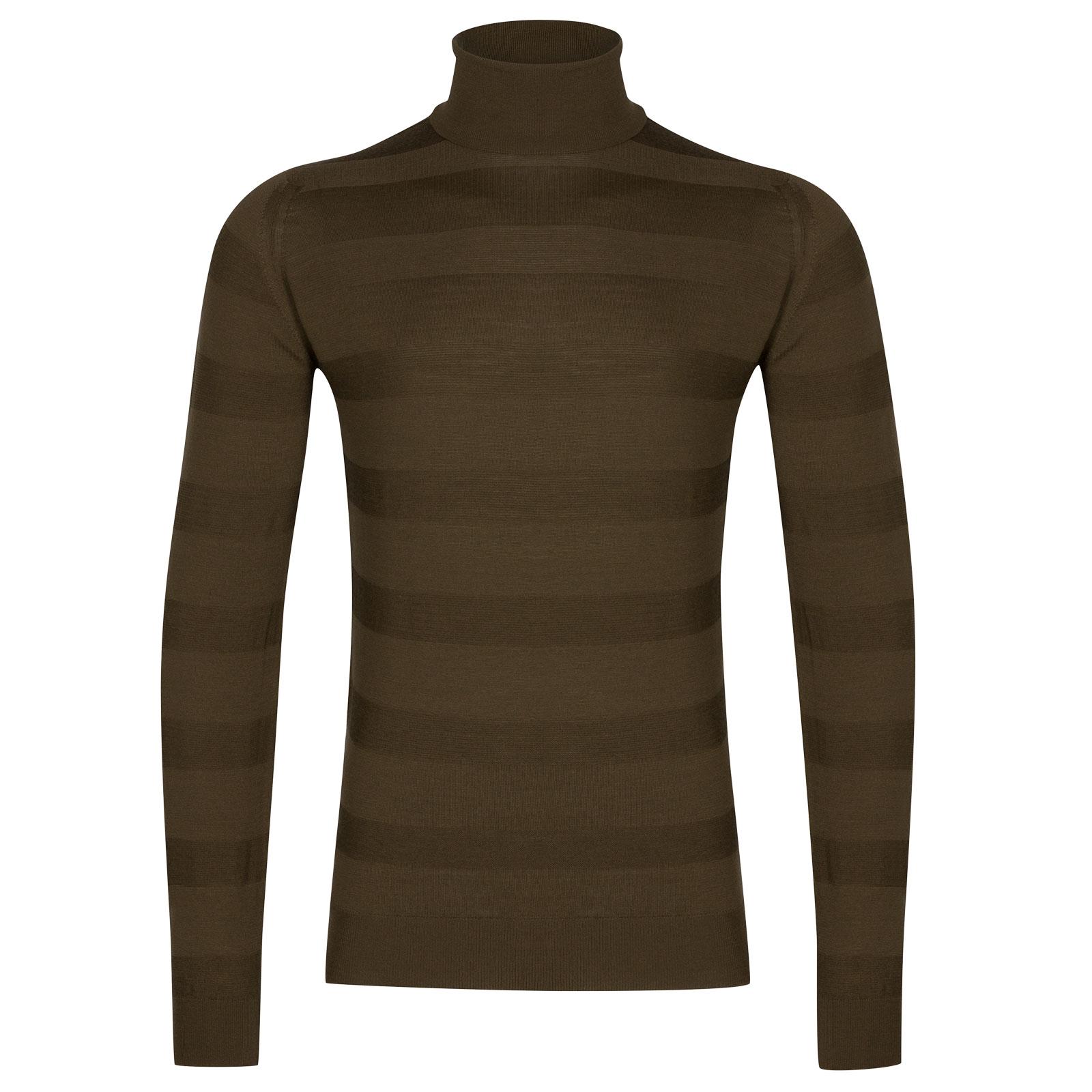 John Smedley ripley Merino Wool Pullover in Kielder Green-XL