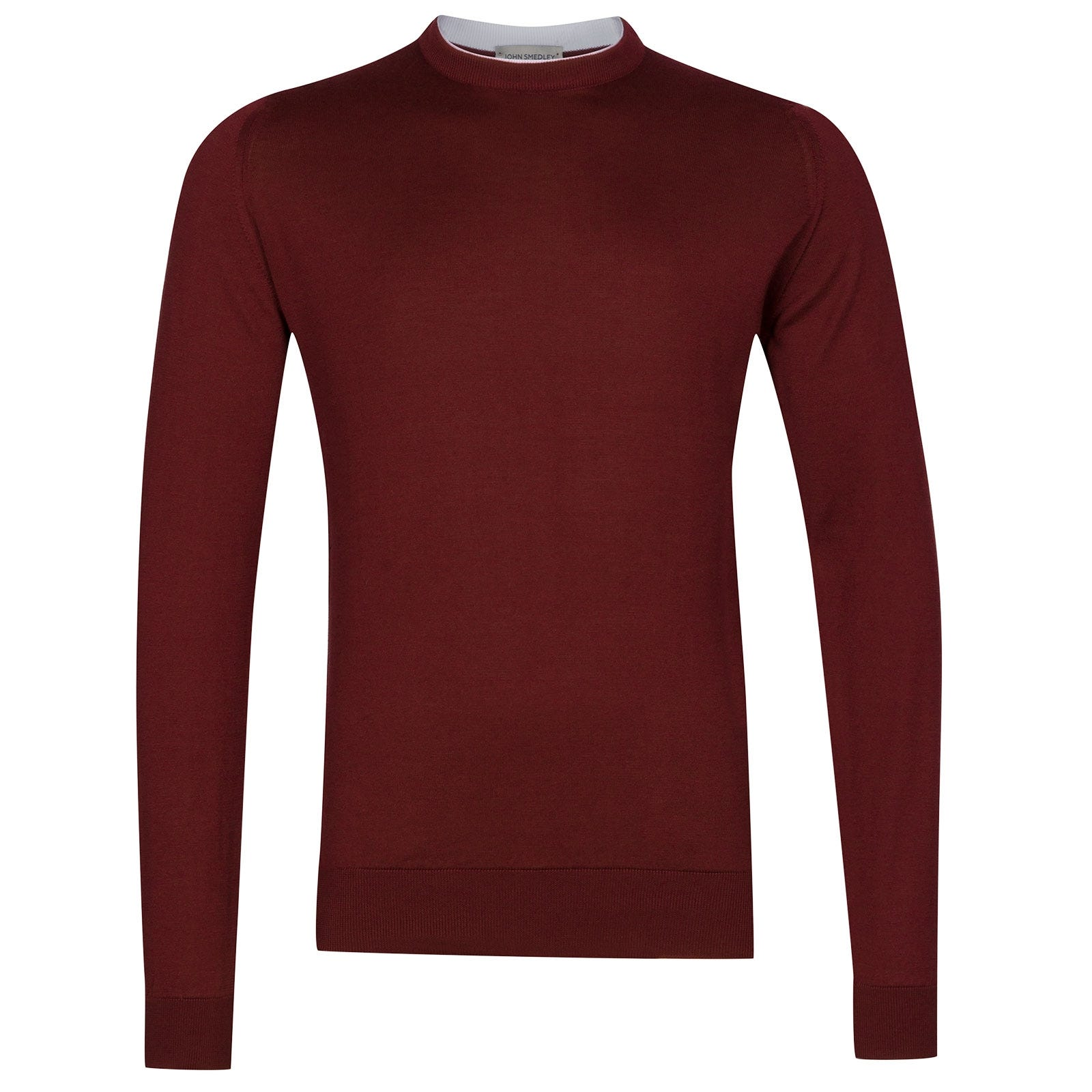 John Smedley Rodney Sea Island Cotton Pullover in Burgundy Grain-L