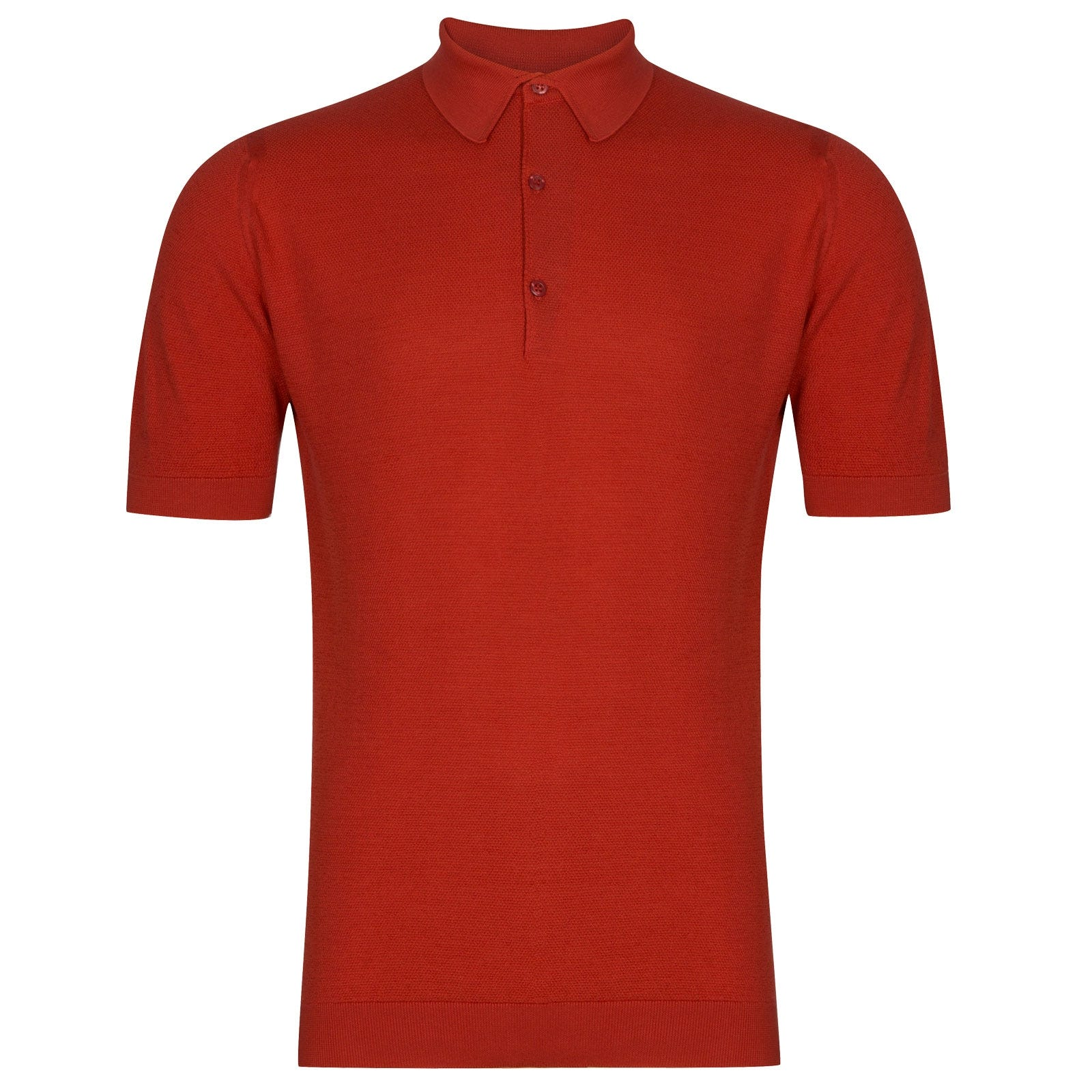 John Smedley Roth in Red Admiral Shirt-SML