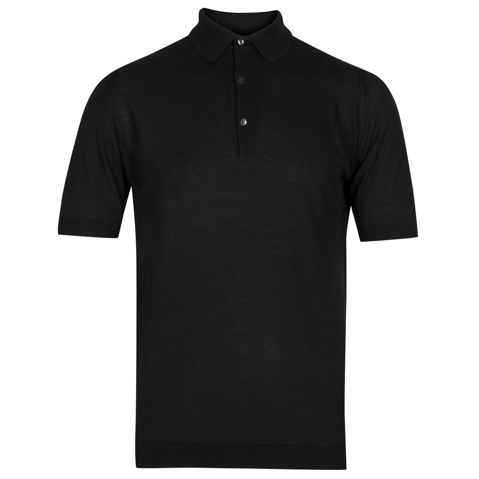 John Smedley roth Sea Island Cotton Shirt in Black-XL