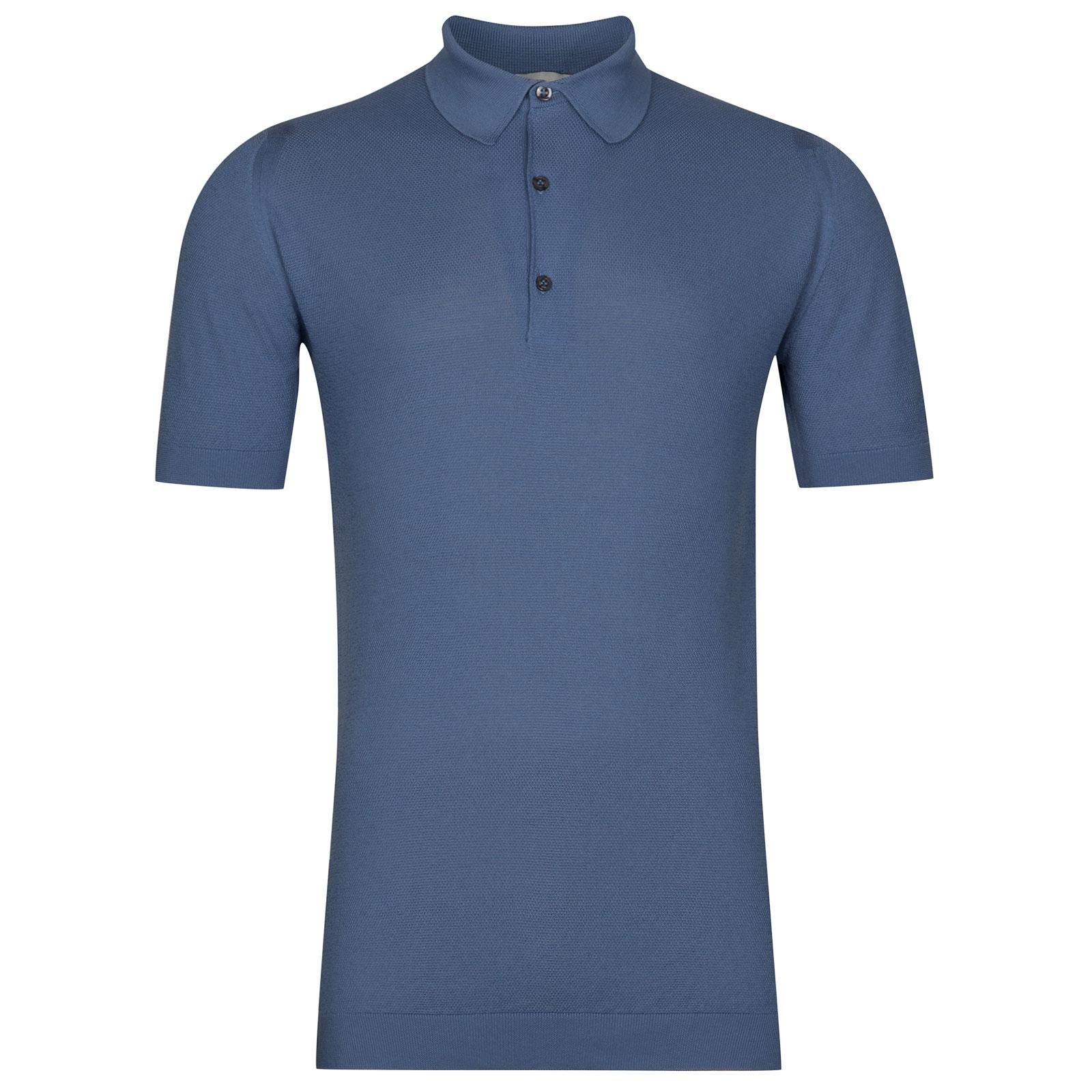 John Smedley Roth in Blue Iris Shirt-LGE
