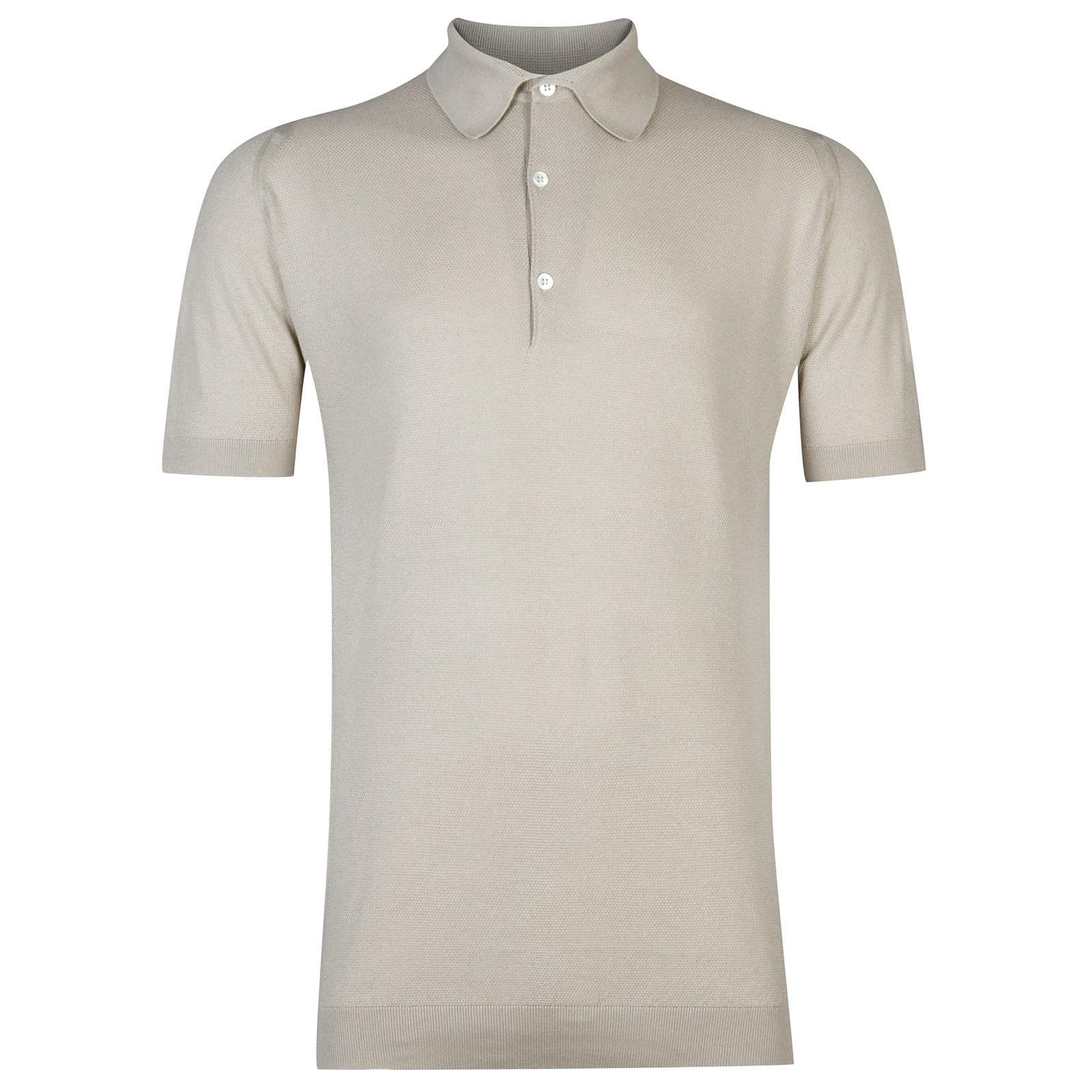 John Smedley Roth Sea Island Cotton Shirt in Brunel Beige-L