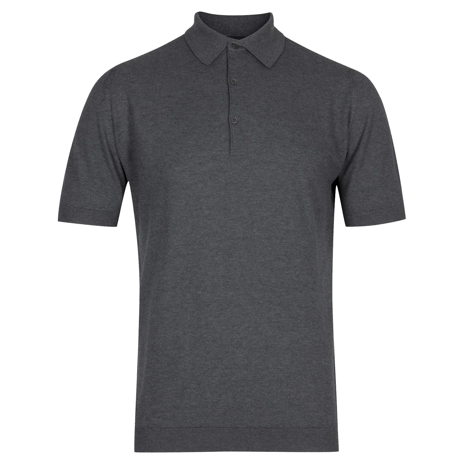 John Smedley roth Sea Island Cotton Shirt in Charcoal-XL
