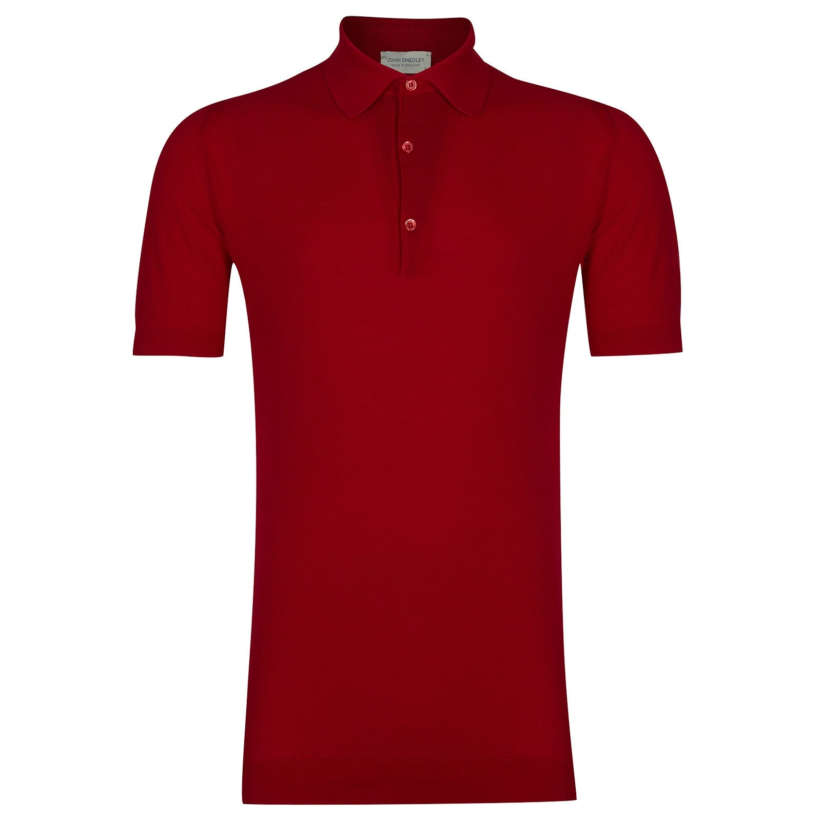 John Smedley Roth Sea Island Cotton Shirt in Dandy Red-XXL