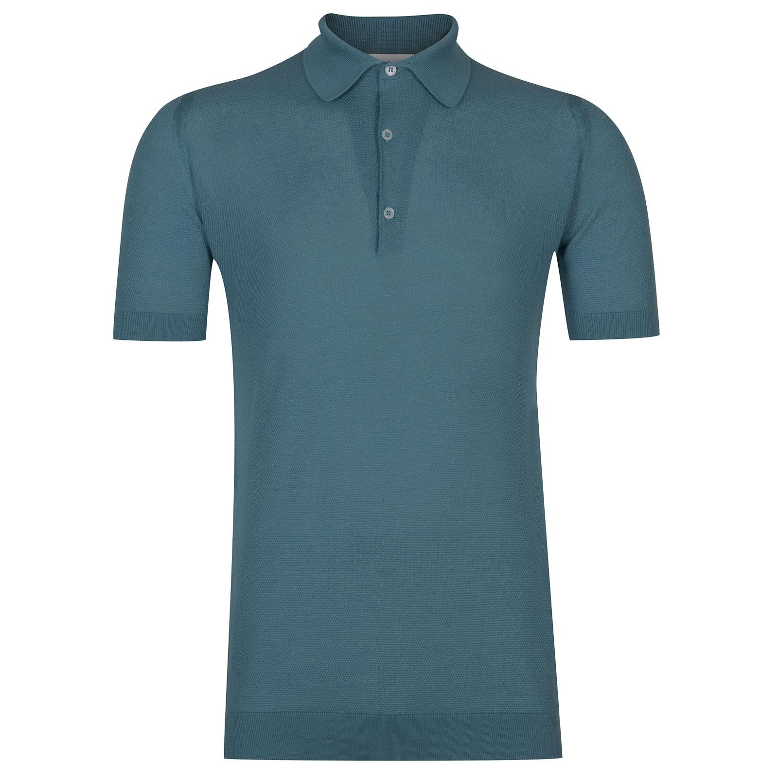John Smedley Roth in Dewdrop Blue Shirt-MED