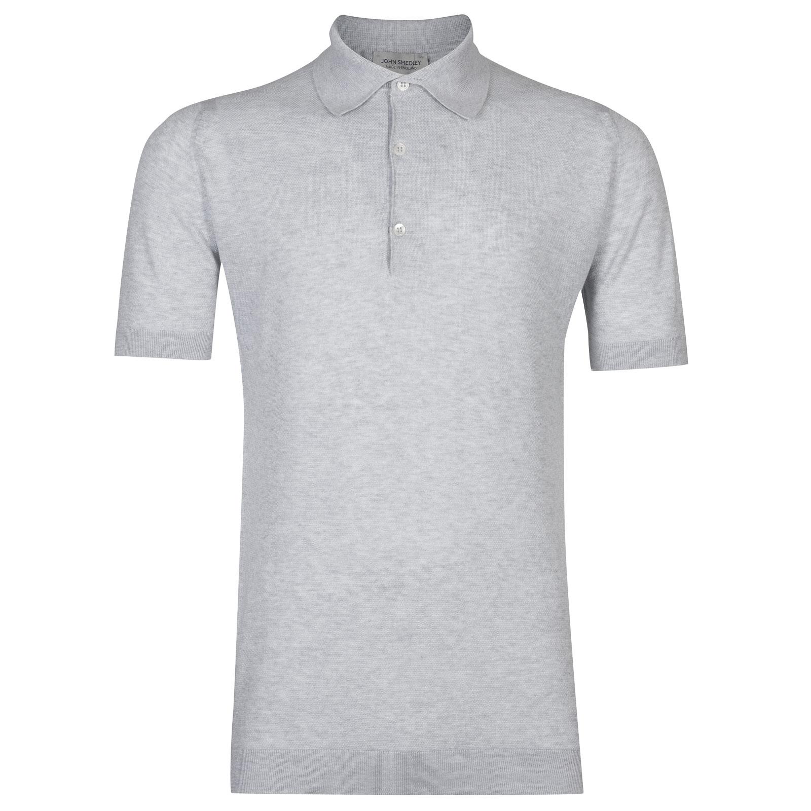 John Smedley roth Sea Island Cotton Shirt in Feather Grey-XXL