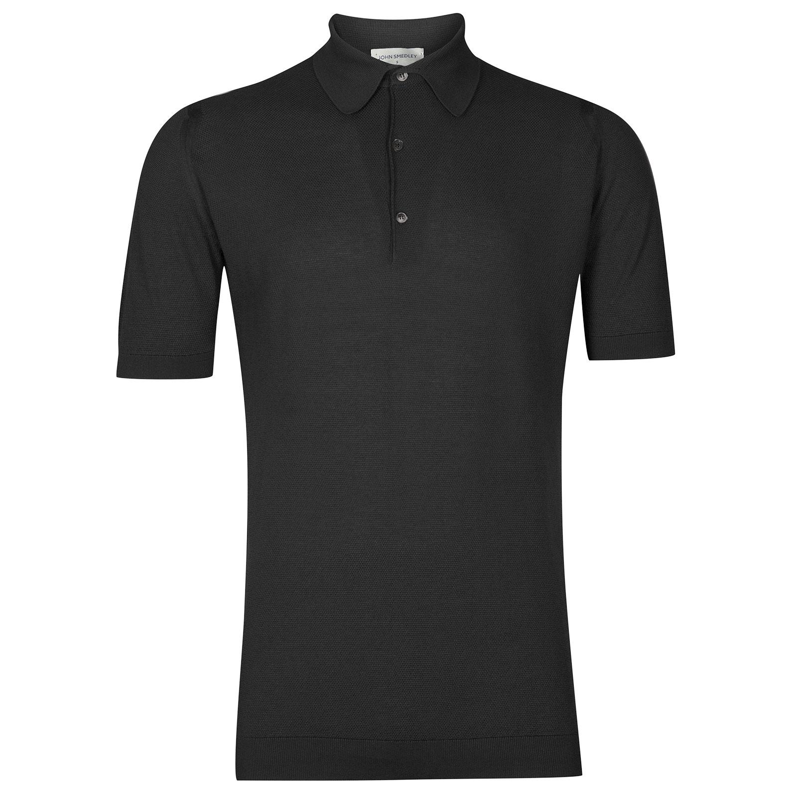 John Smedley Roth Sea Island Cotton Shirt in Flannel Grey-XXL