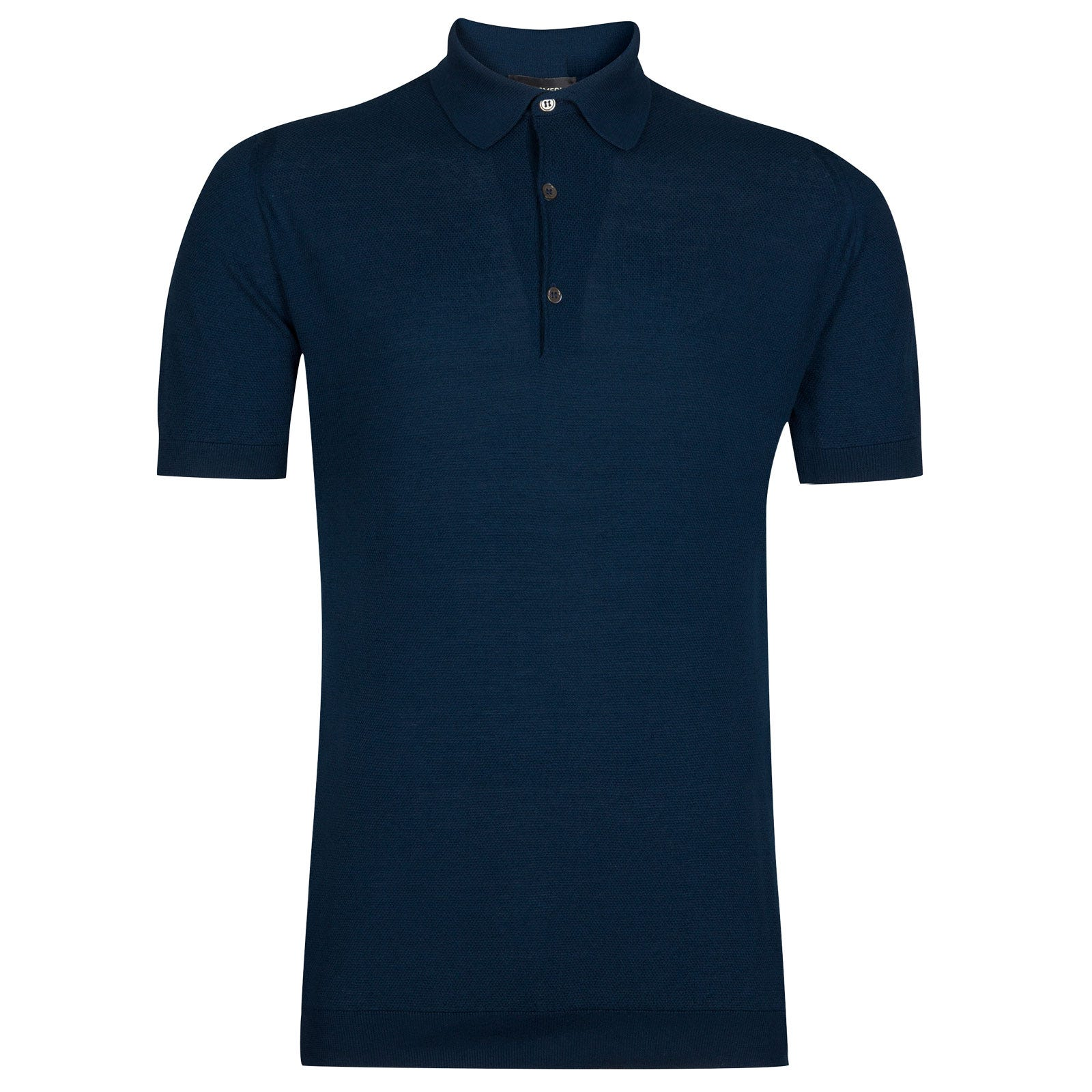 John Smedley roth Sea Island Cotton Shirt in Indigo-XXL