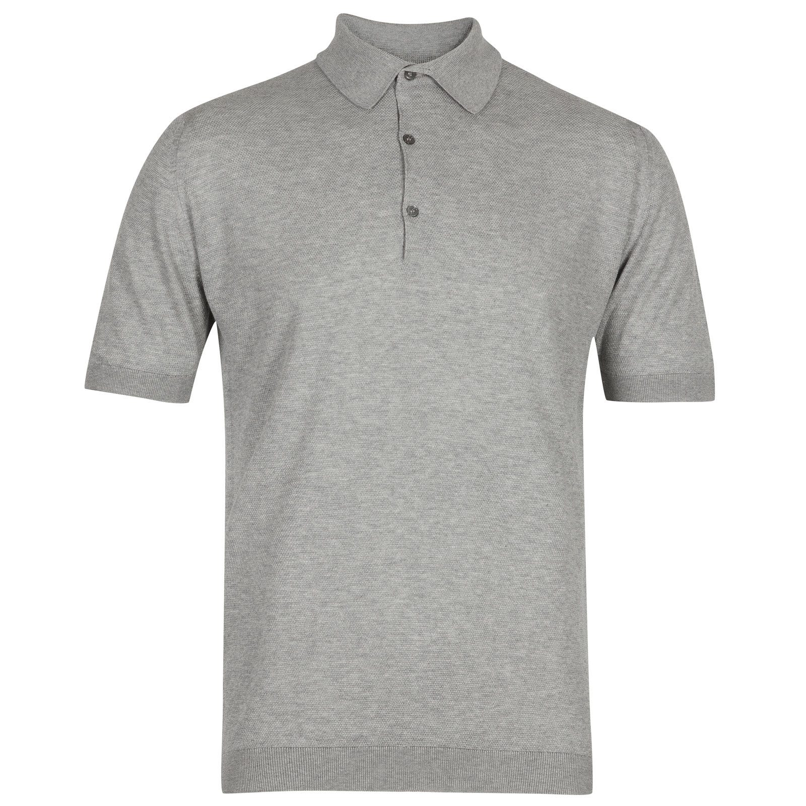 John Smedley roth Sea Island Cotton Shirt in Silver-XL