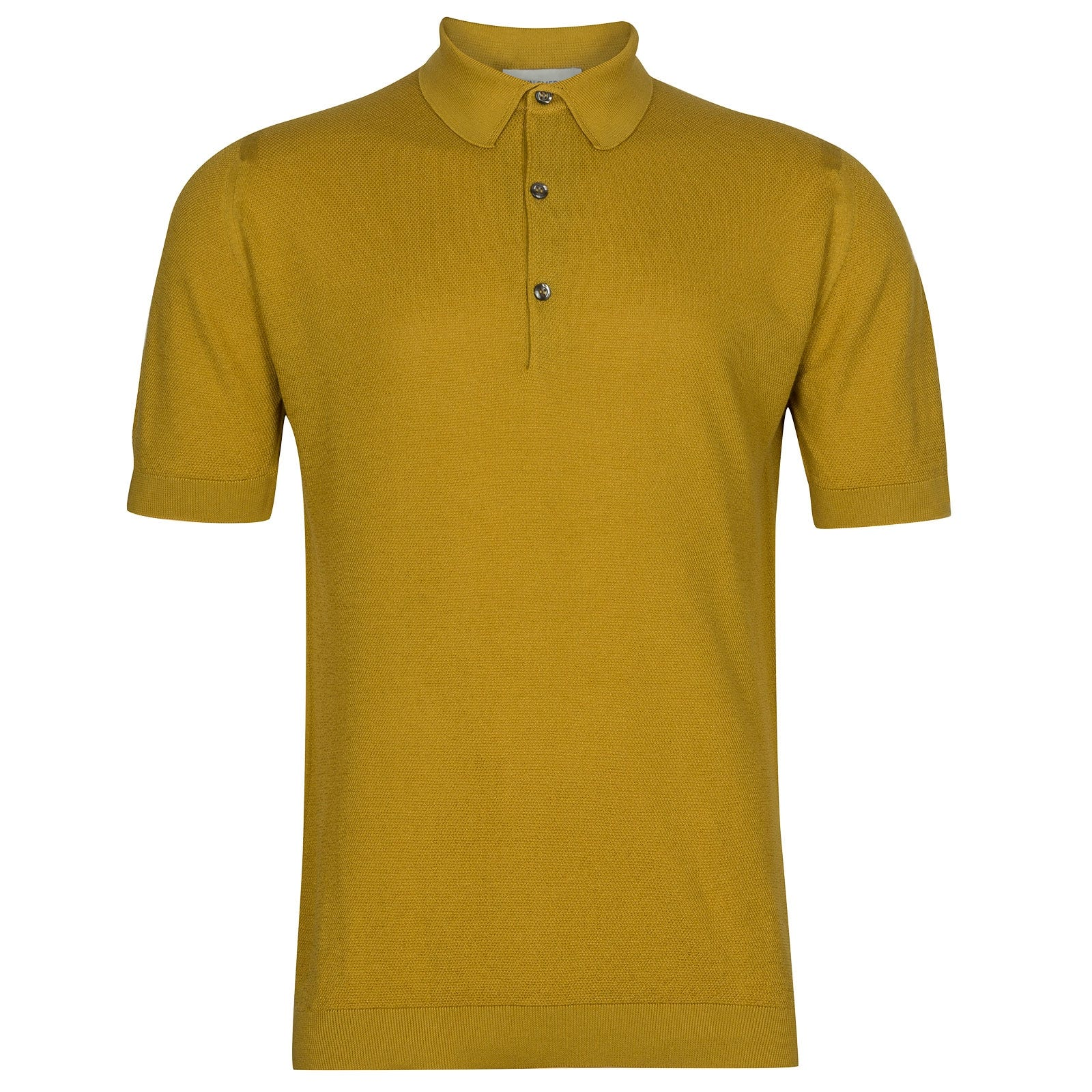 John Smedley Roth in Stamen Yellow Shirt-MED