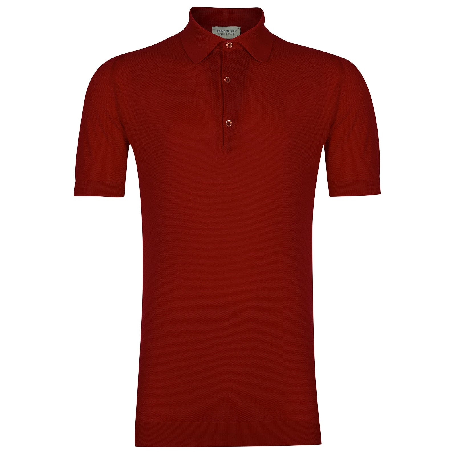 John Smedley RothSea Island Cotton Shirt in Thermal Red-XXL