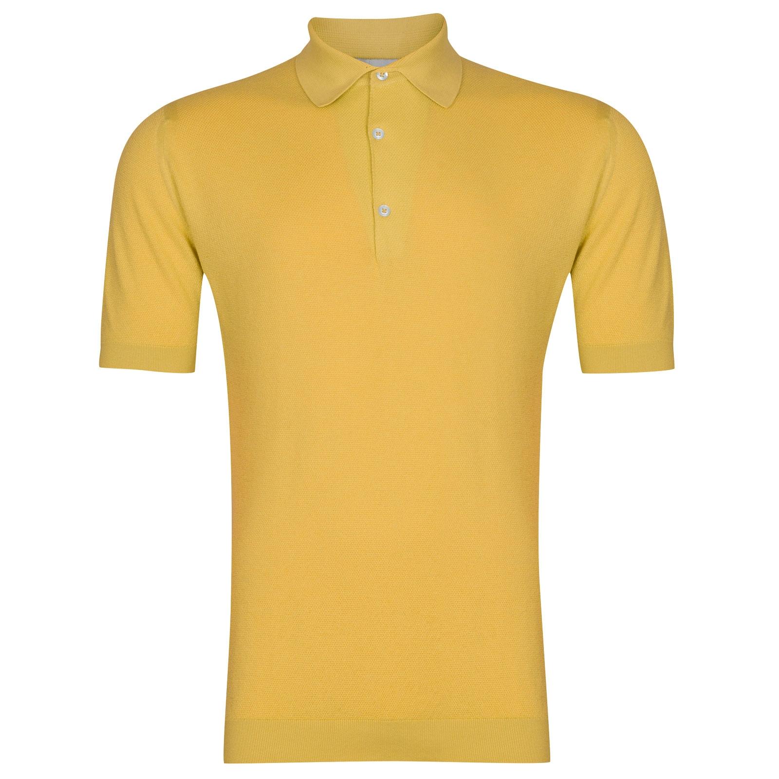 John Smedley Roth in Yellow Bloom Shirt-MED