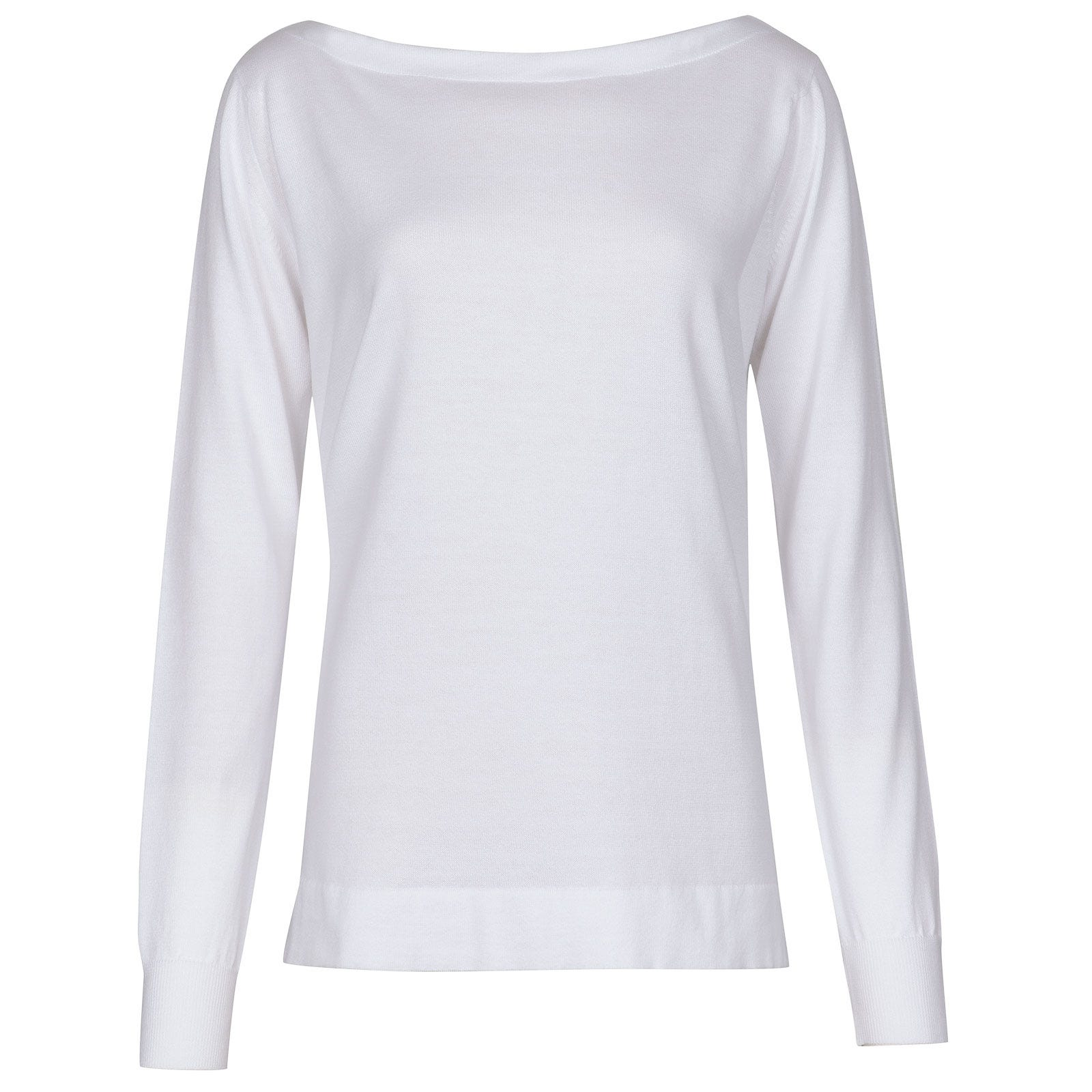 John Smedley Roxton Merino Wool Sweater in White-S